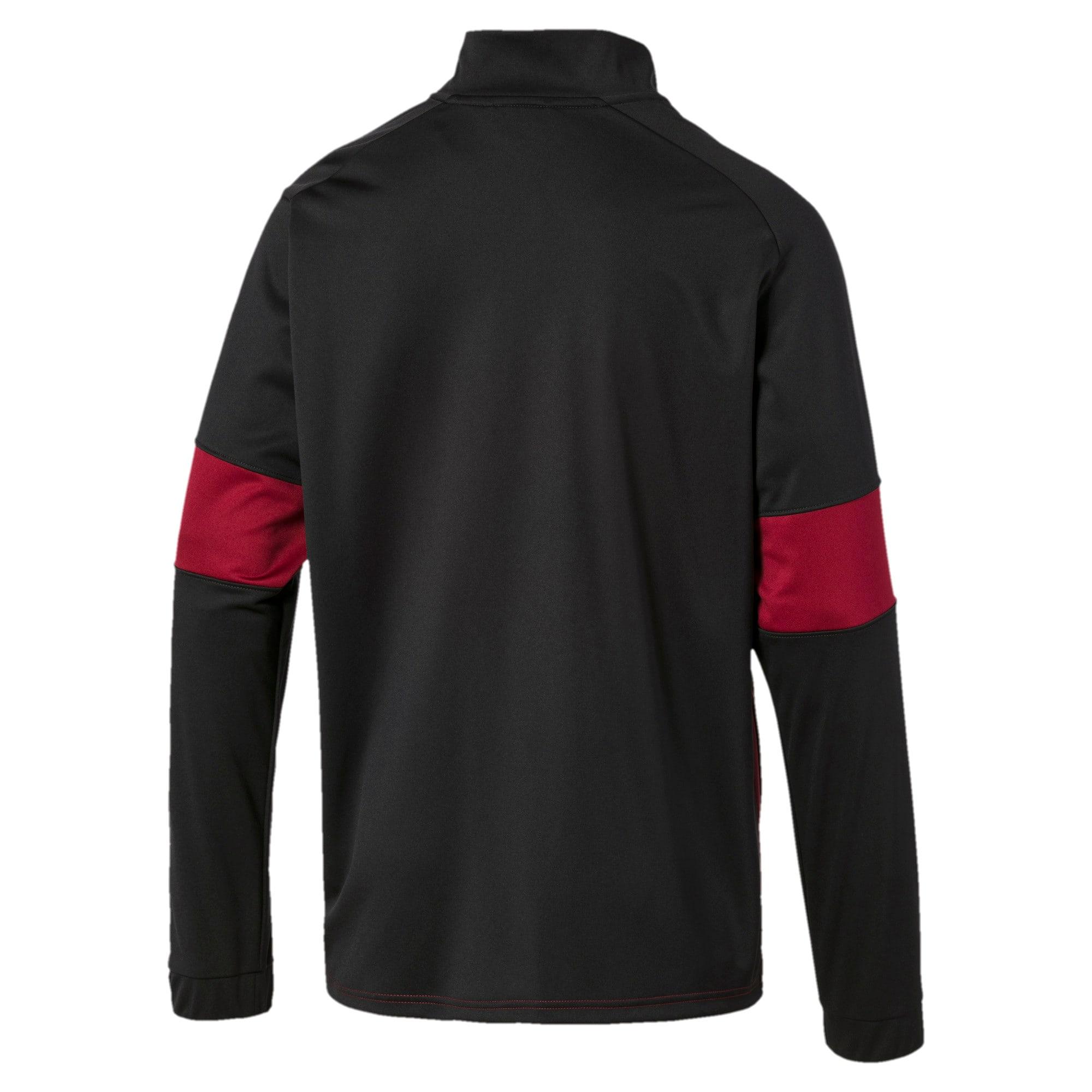 Thumbnail 5 of PUMA Blaster Men's Jacket, Puma Black-Rhubarb, medium