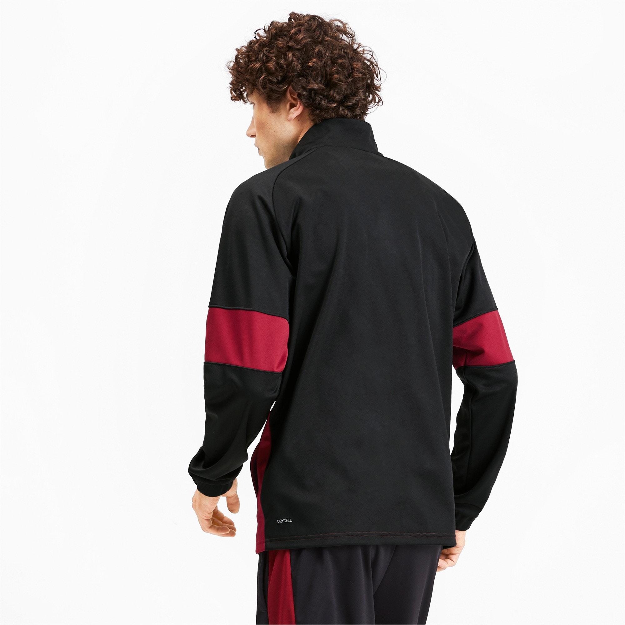 Thumbnail 3 of PUMA Blaster Men's Jacket, Puma Black-Rhubarb, medium