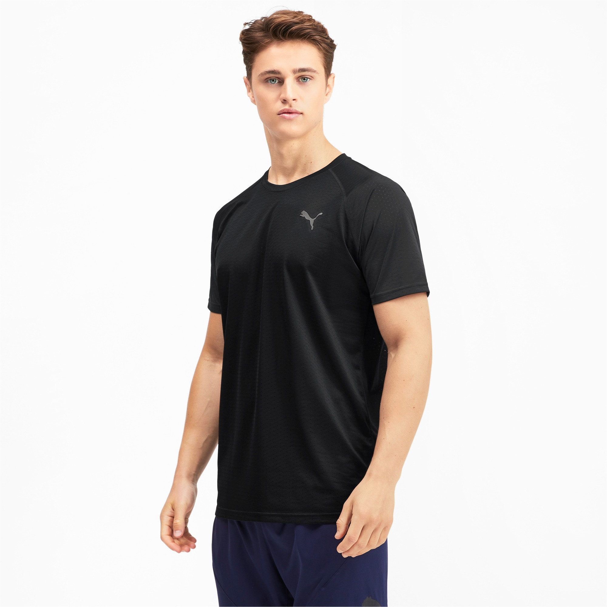 Thumbnail 1 of Short Sleeve Men's Tech Training Tee, Puma Black, medium