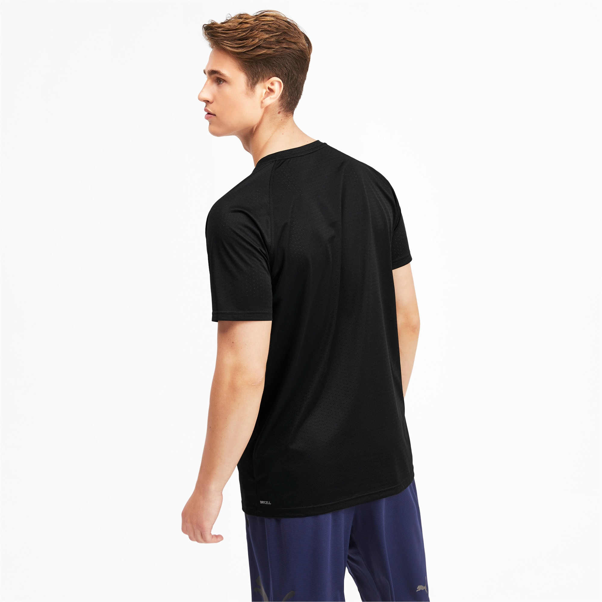 Thumbnail 2 of Short Sleeve Men's Tech Training Tee, Puma Black, medium