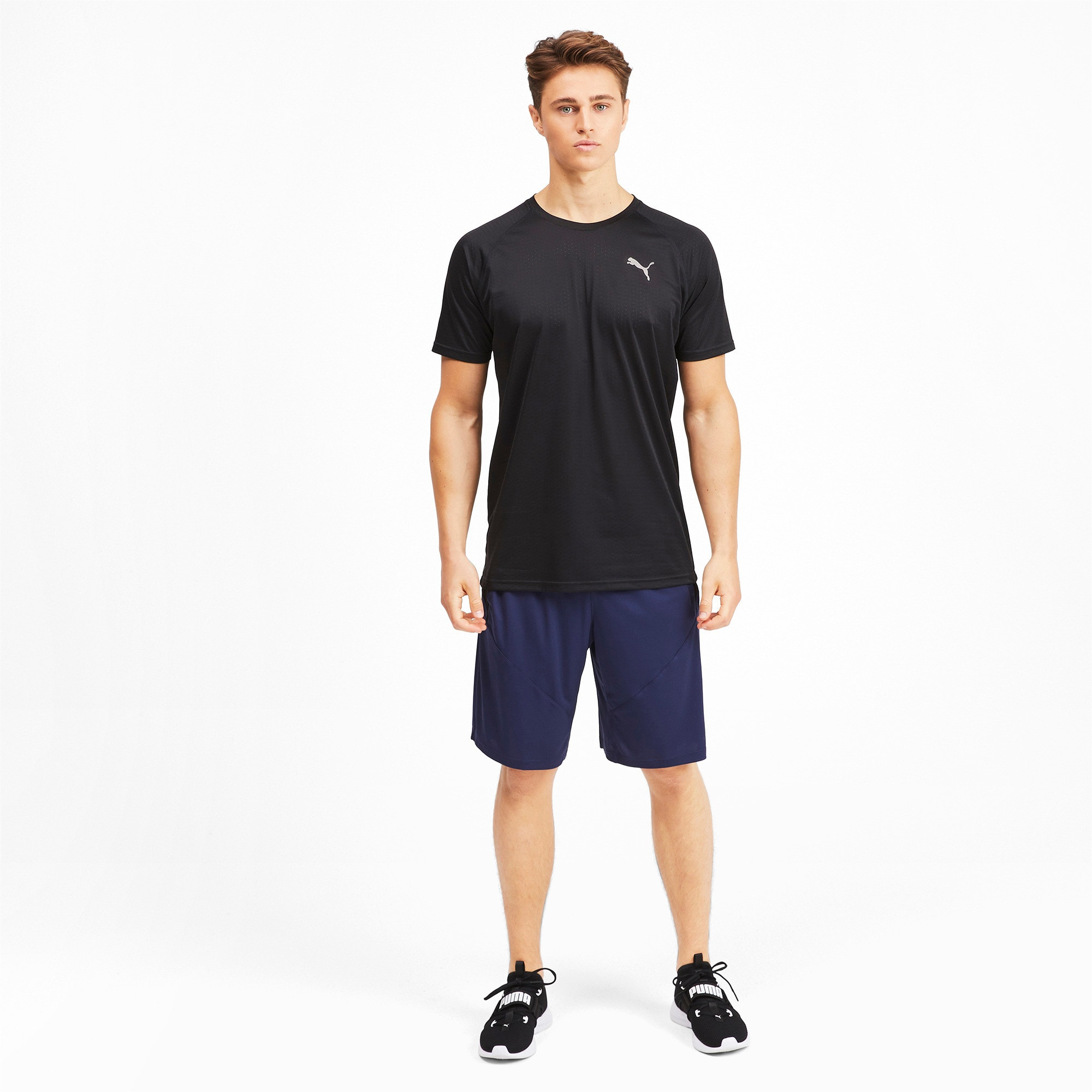 Thumbnail 3 of Short Sleeve Men's Tech Training Tee, Puma Black, medium