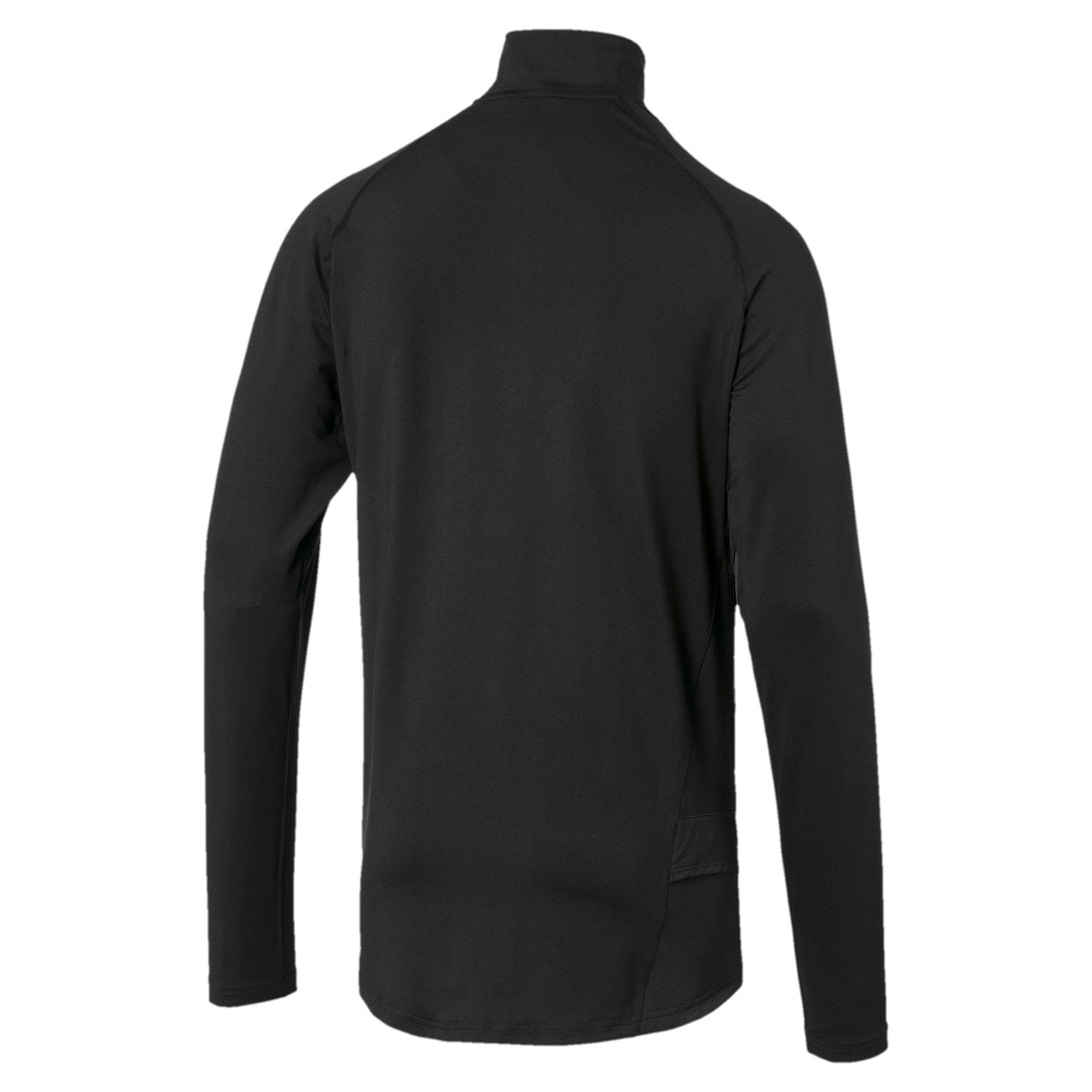 Miniatura 4 de Camiseta sin mangasIgnitecon cierre corto para hombre, Puma Black-Nrgy Red, mediano