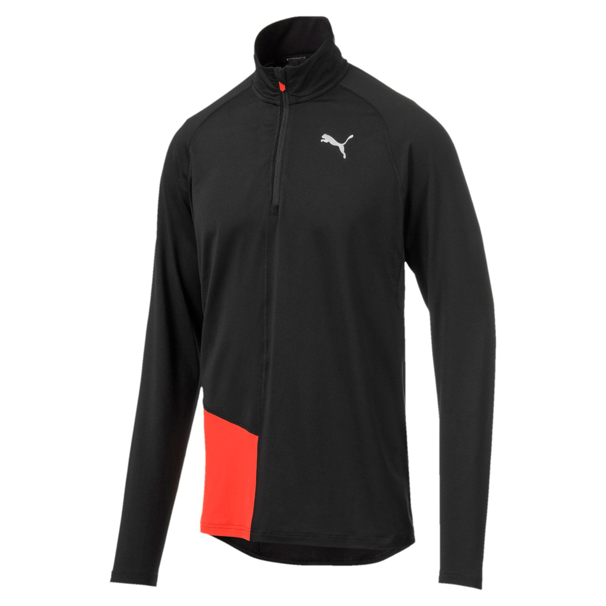 Miniatura 3 de Camiseta sin mangasIgnitecon cierre corto para hombre, Puma Black-Nrgy Red, mediano