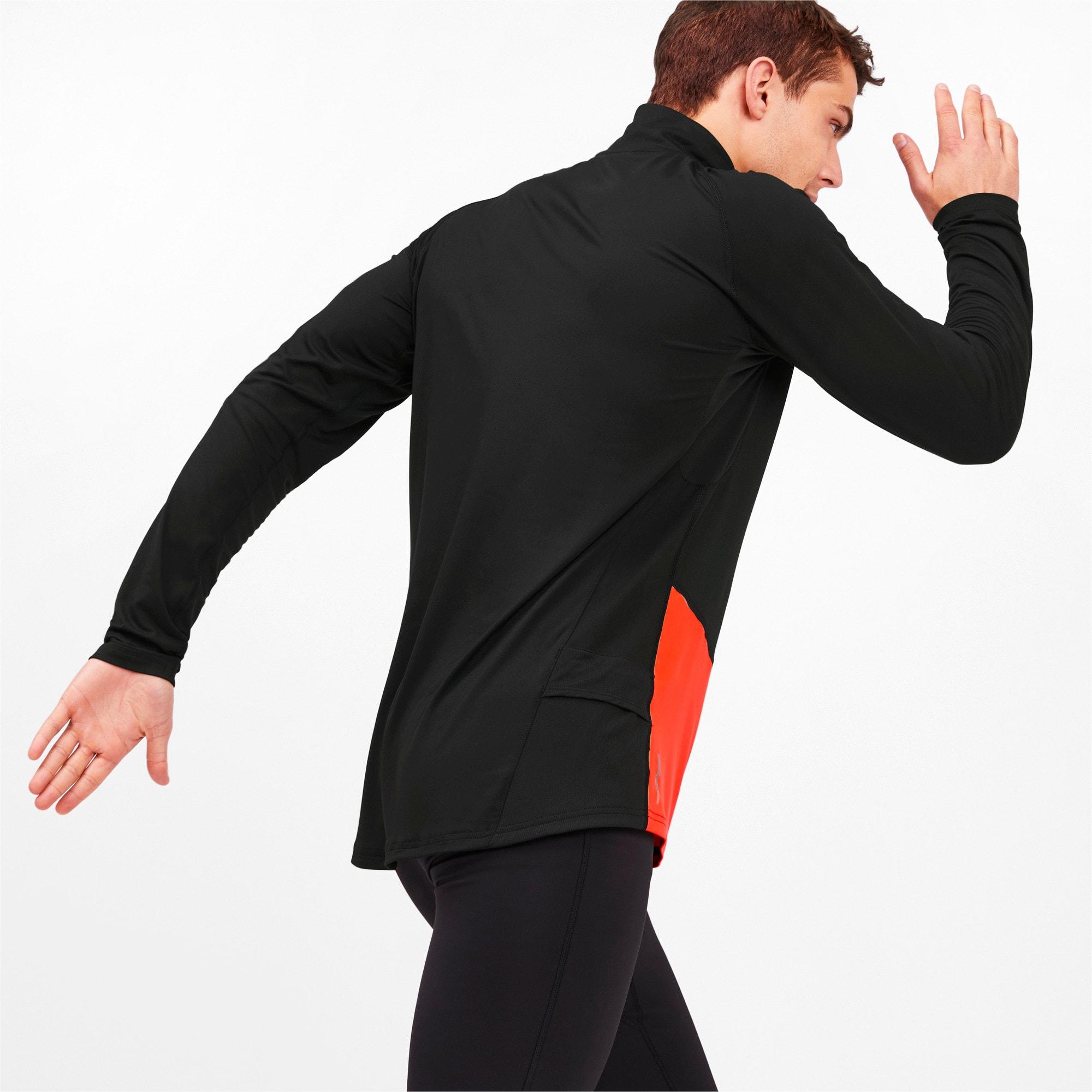 Miniatura 2 de Camiseta sin mangasIgnitecon cierre corto para hombre, Puma Black-Nrgy Red, mediano