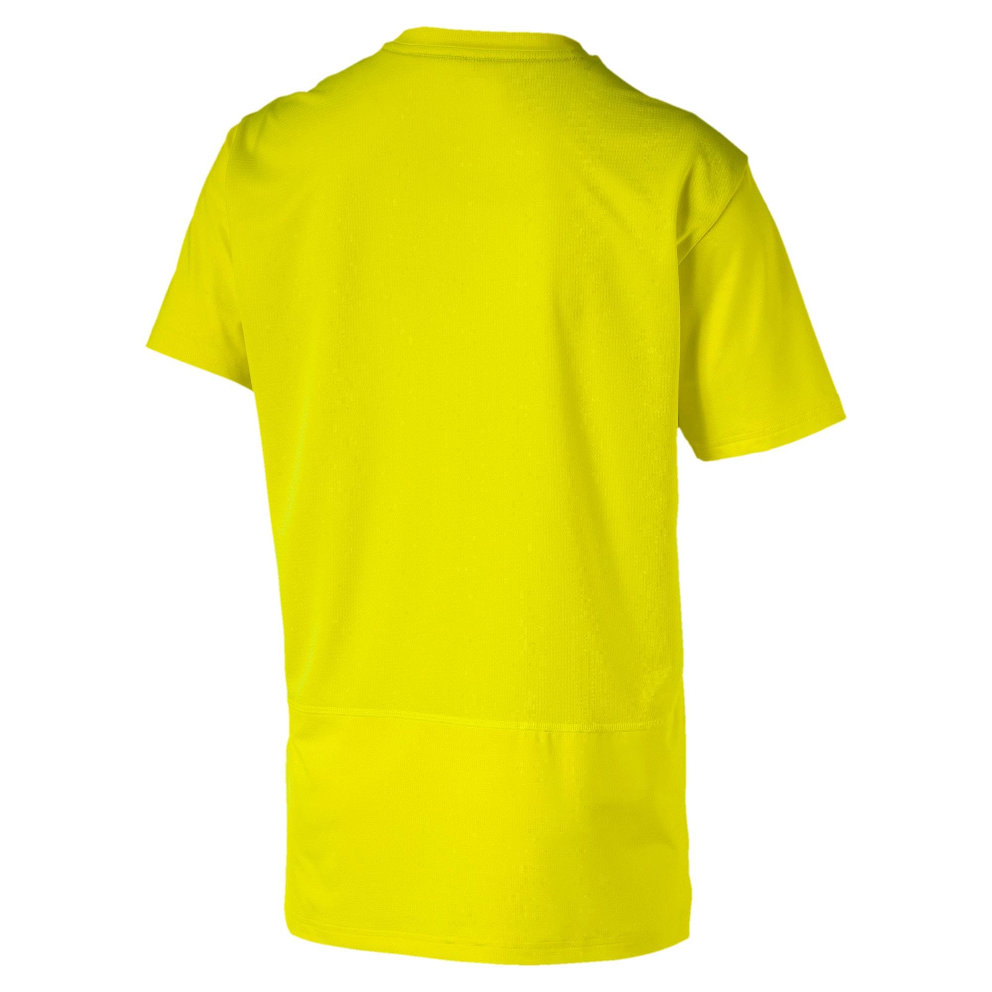 Miniatura 5 de Camiseta reflectante Tech para hombre, Yellow Alert, mediano