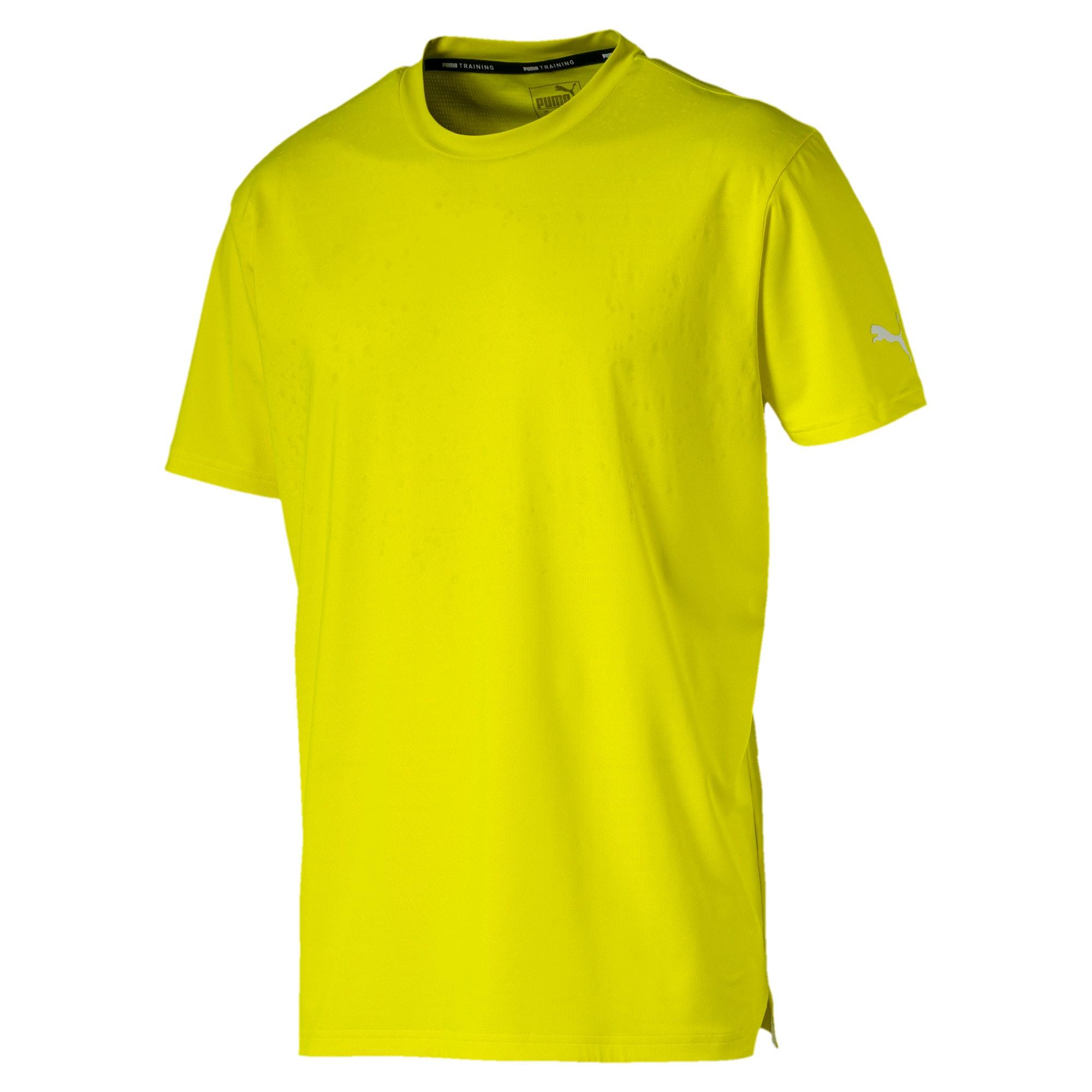 Miniatura 4 de Camiseta reflectante Tech para hombre, Yellow Alert, mediano