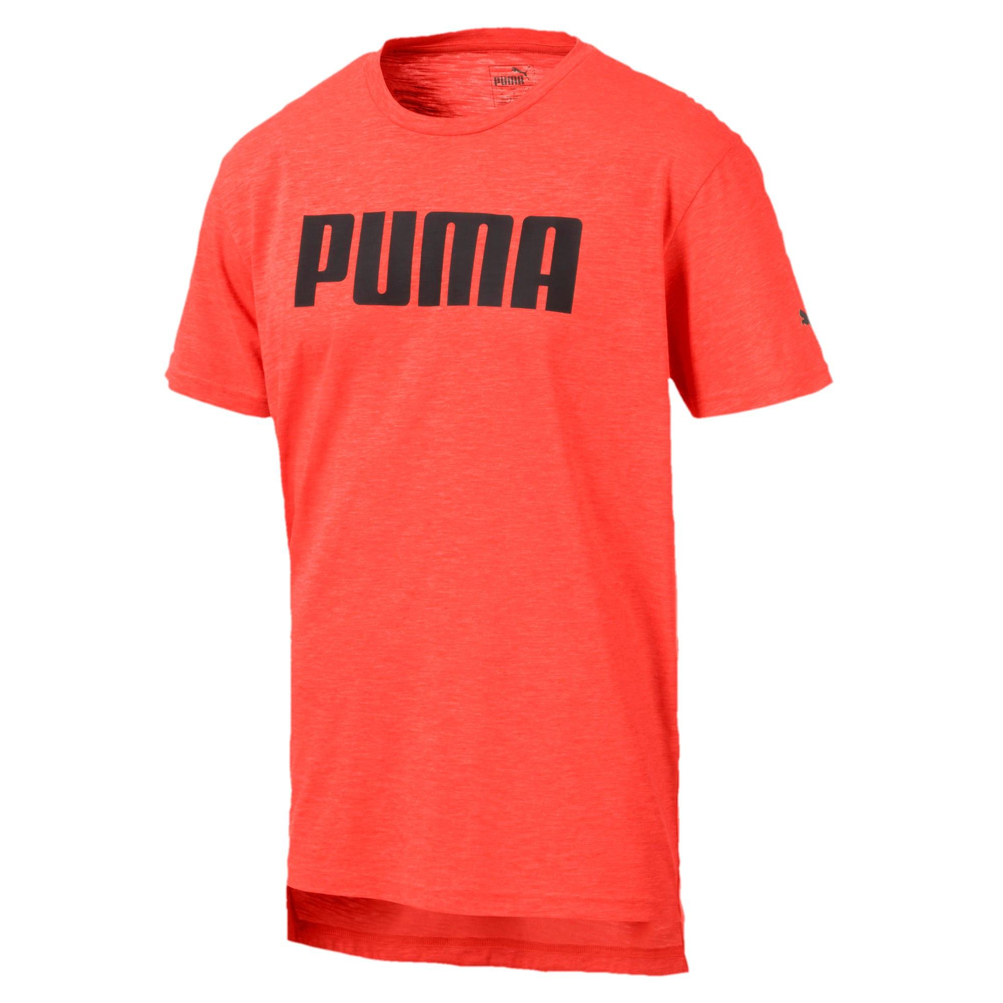 Thumbnail 4 of PUMA Men's Graphic Tee, Nrgy Red Heather, medium