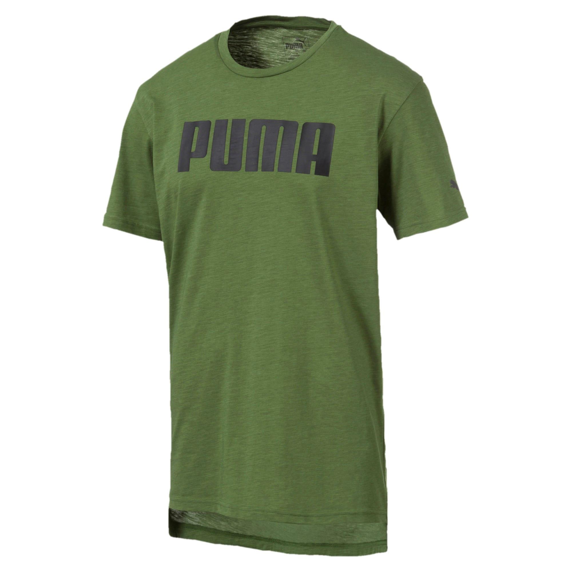 Thumbnail 1 of PUMA Men's Graphic Tee, Garden Green Heather, medium