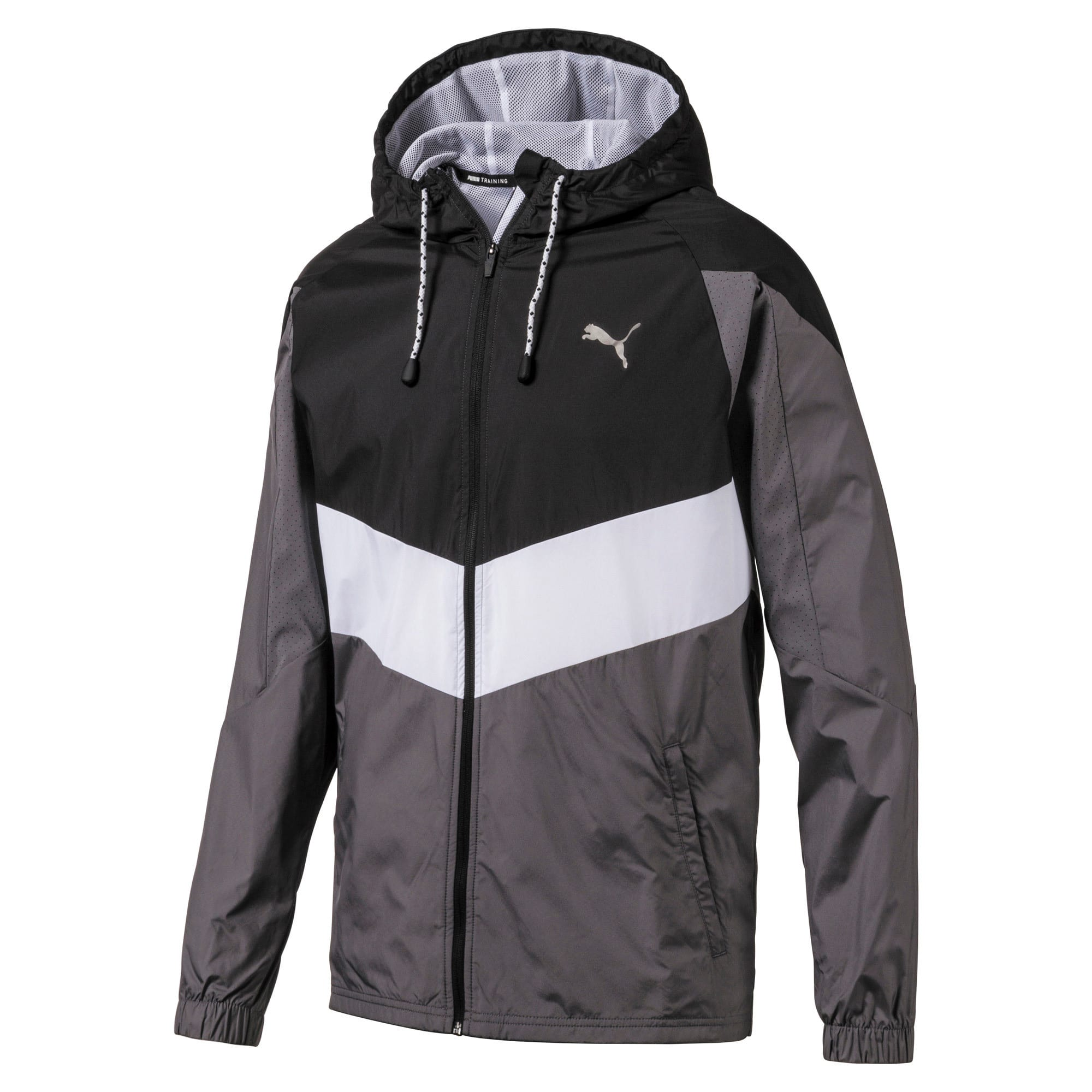 Thumbnail 4 of Reactive Woven Men's Training Jacket, Black-CASTLEROCK-White, medium