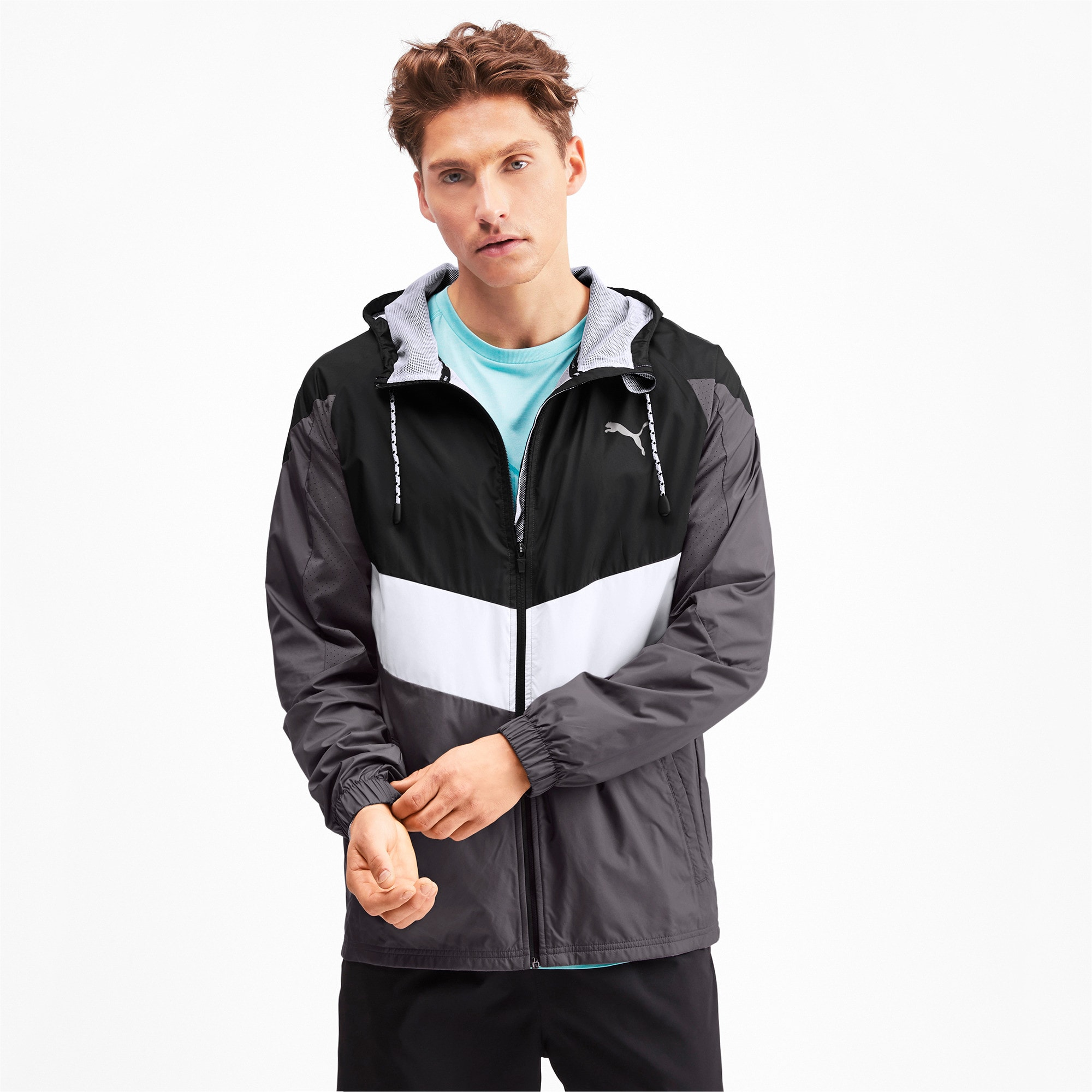 Thumbnail 1 of Reactive Woven Men's Training Jacket, Black-CASTLEROCK-White, medium