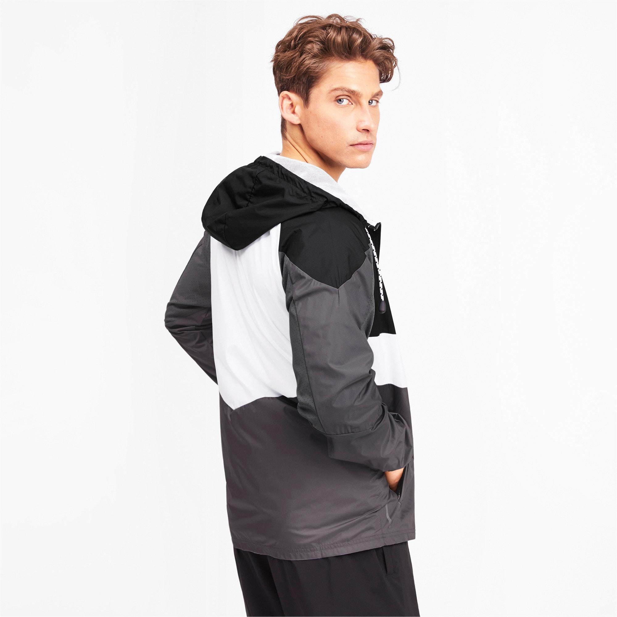 Thumbnail 2 of Reactive Woven Men's Training Jacket, Black-CASTLEROCK-White, medium