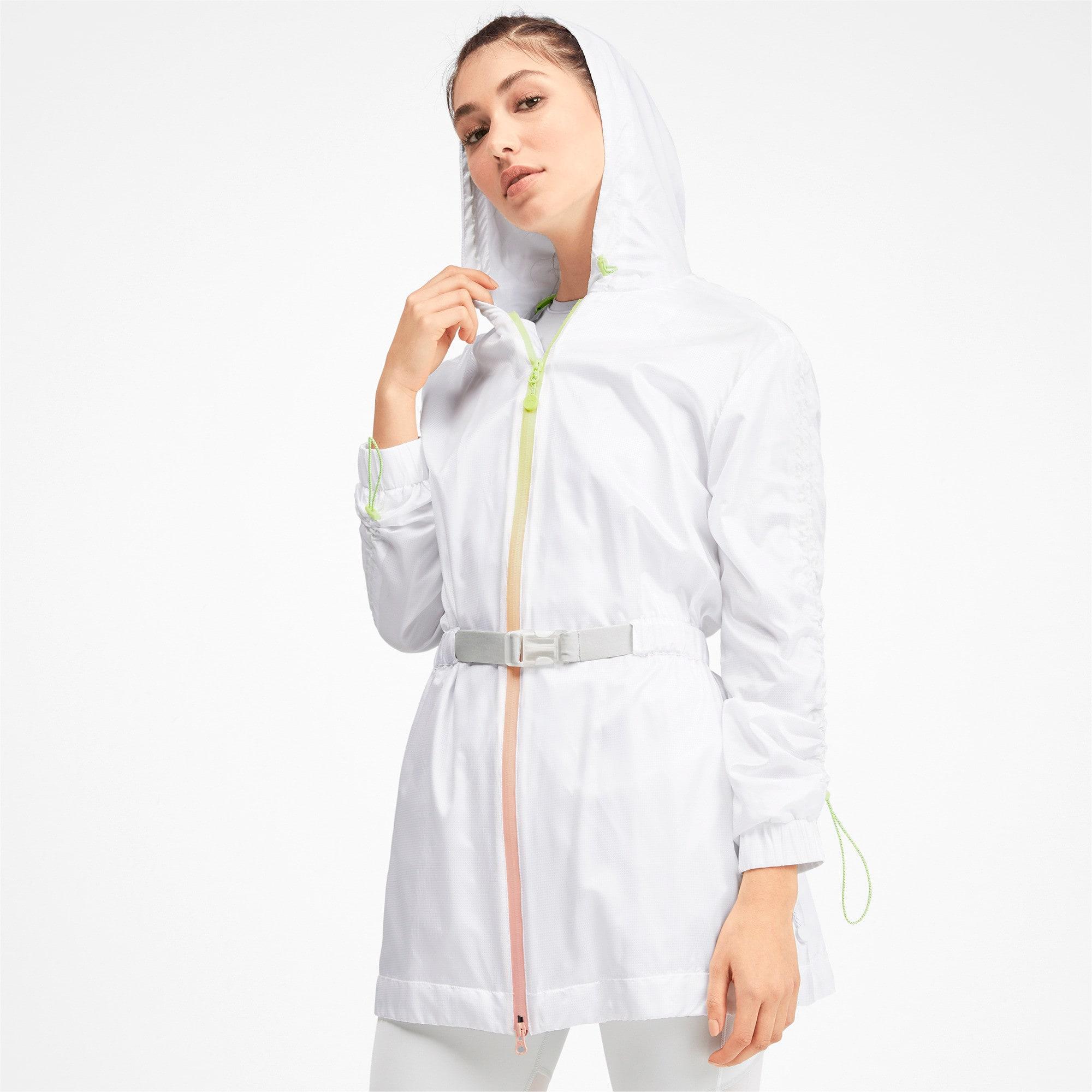 Thumbnail 1 of PUMA x SELENA GOMEZ Hooded Women's Jacket, Puma White, medium