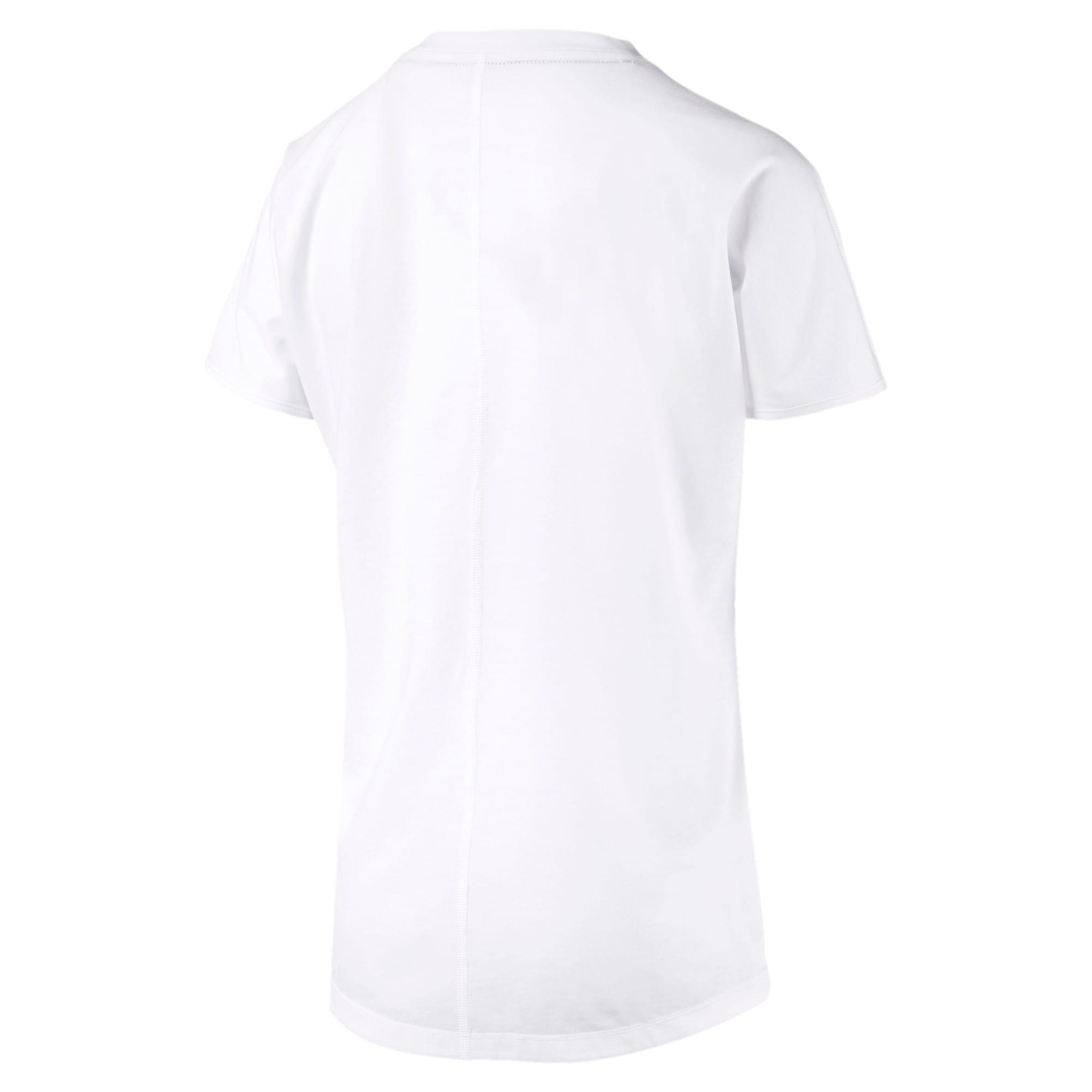 Thumbnail 6 of FAVORITE キャット SS ウィメンズ トレーニング Tシャツ 半袖, Puma White-CAT Q3, medium-JPN