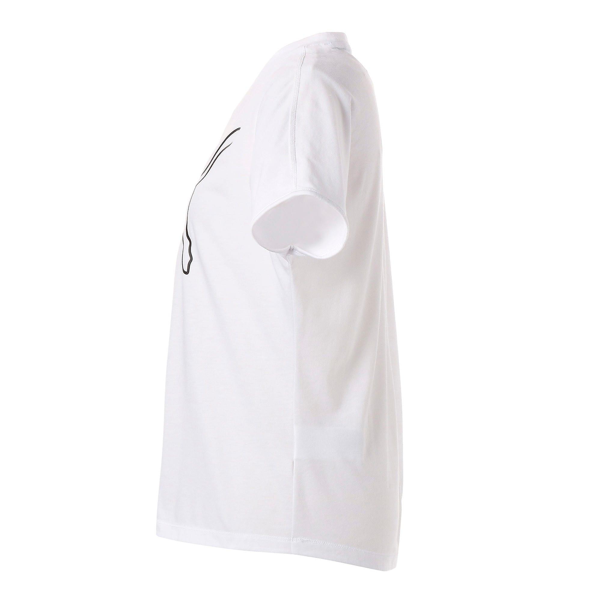 Thumbnail 5 of FAVORITE キャット SS ウィメンズ トレーニング Tシャツ 半袖, Puma White-CAT Q3, medium-JPN