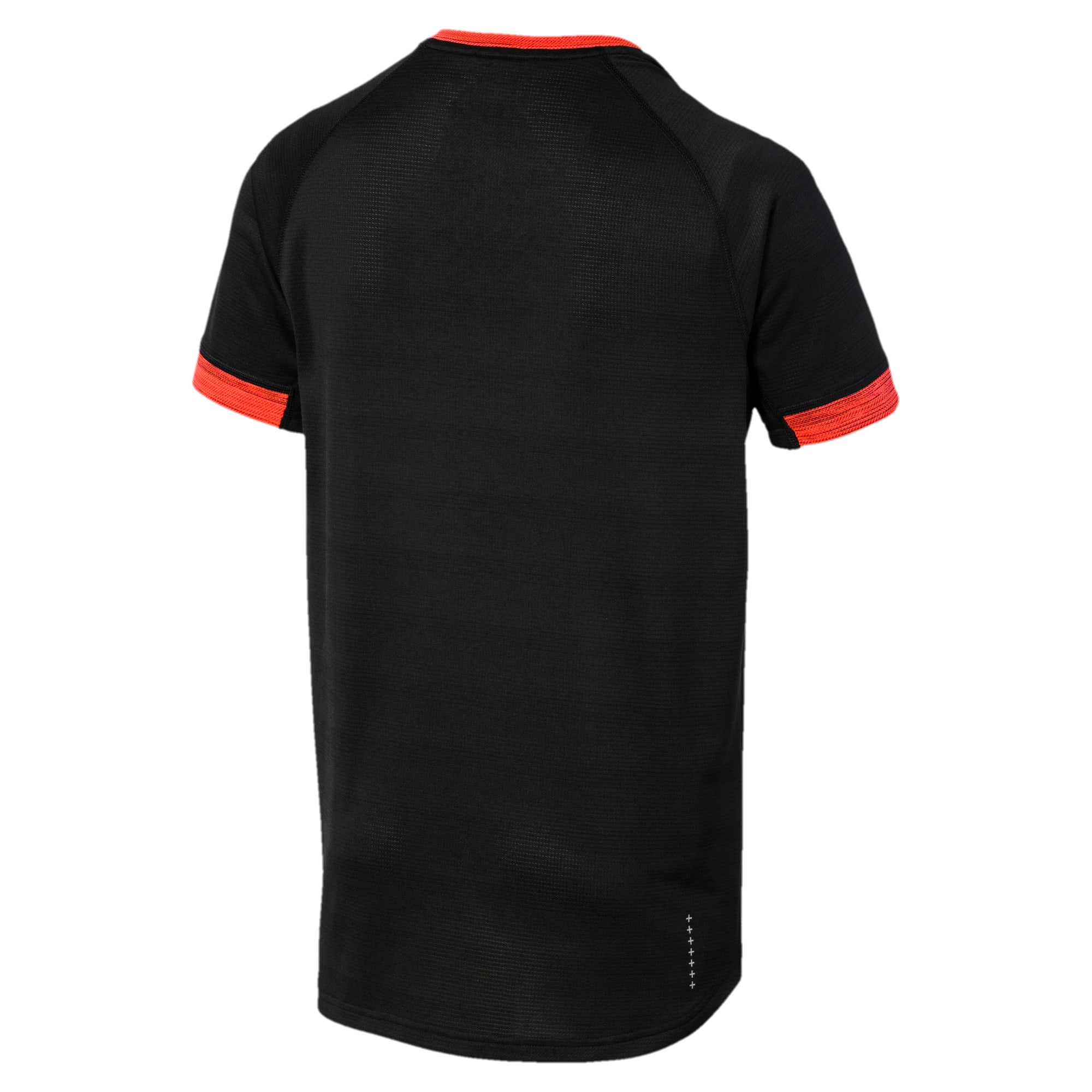 Thumbnail 6 of GET FAST THERMO-R+ SS ランニング Tシャツ 半袖, Black Htr-Nrgy Red Htr, medium-JPN