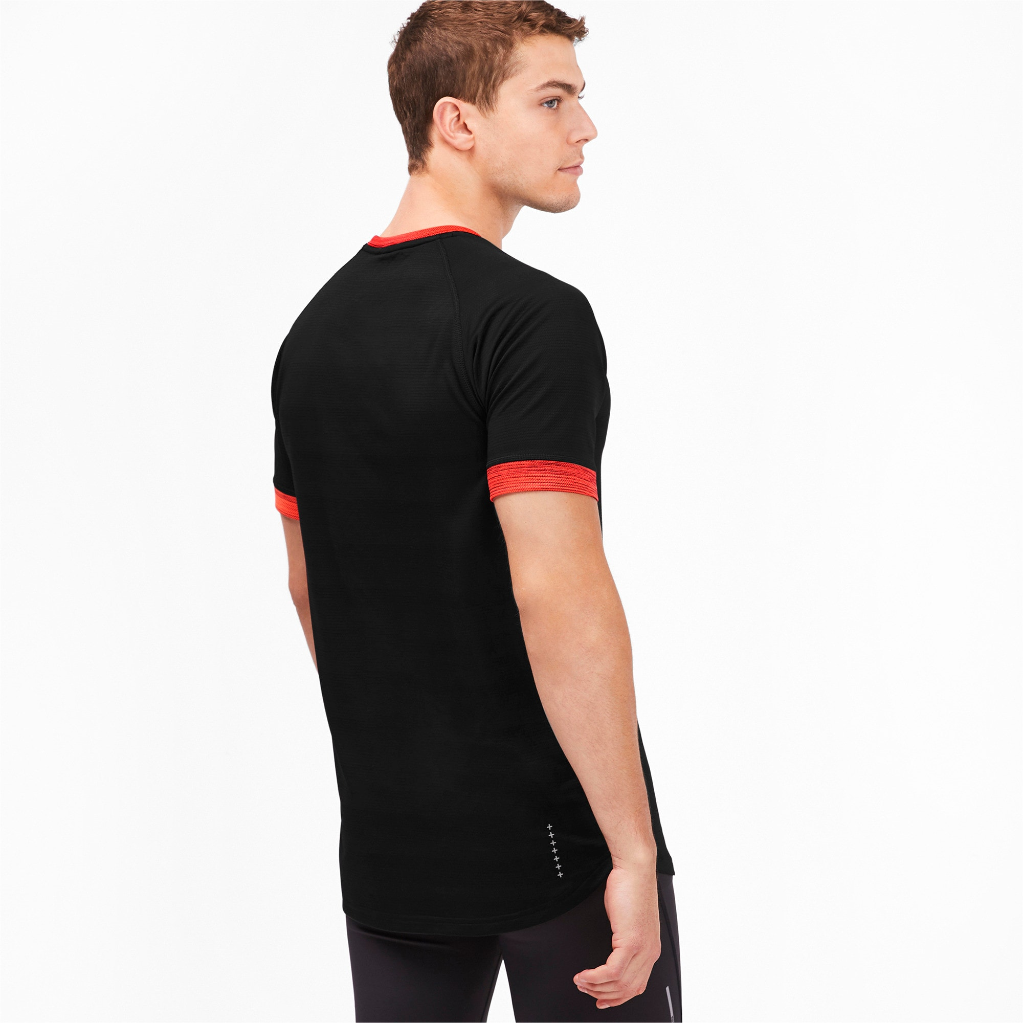 Thumbnail 2 of GET FAST THERMO-R+ SS ランニング Tシャツ 半袖, Black Htr-Nrgy Red Htr, medium-JPN