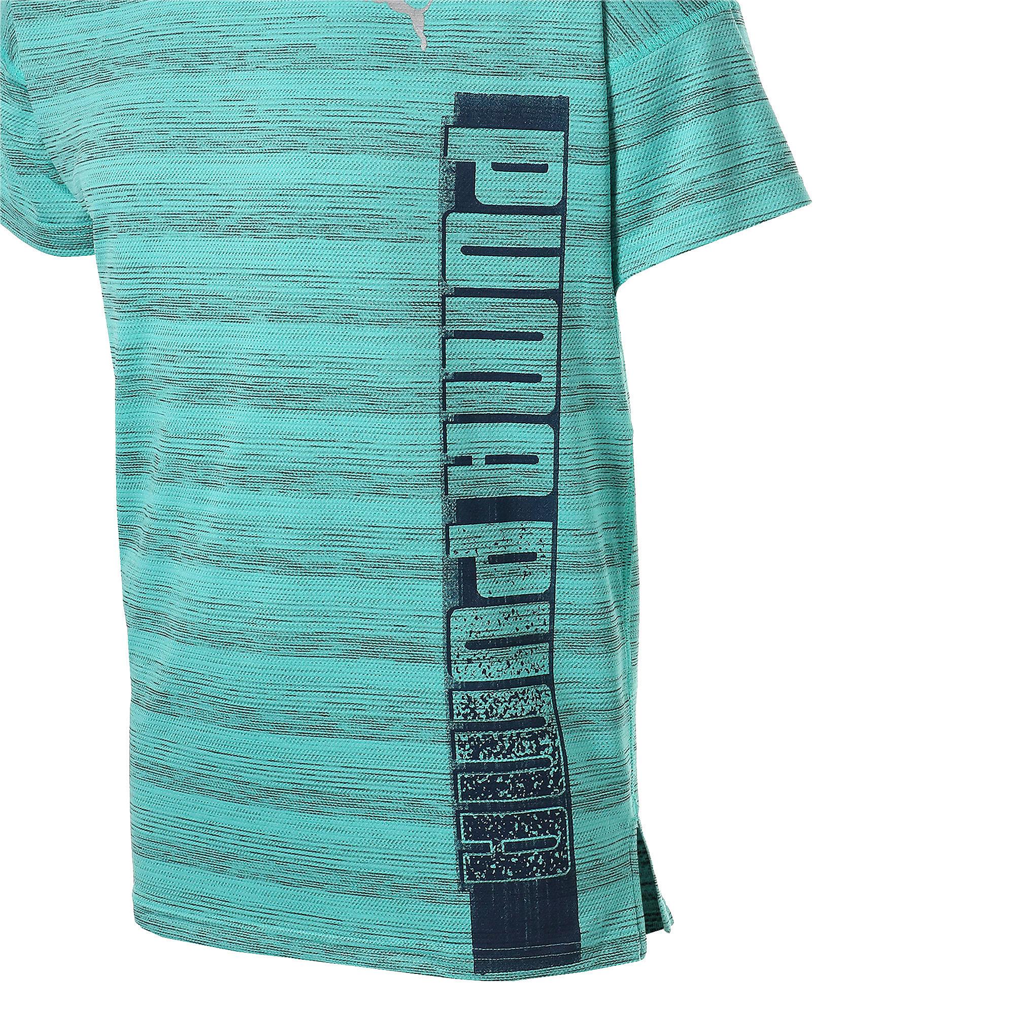 Thumbnail 10 of LAST LAP ヘザー SS ランニング Tシャツ 半袖, Blue Turquoise Heather, medium-JPN