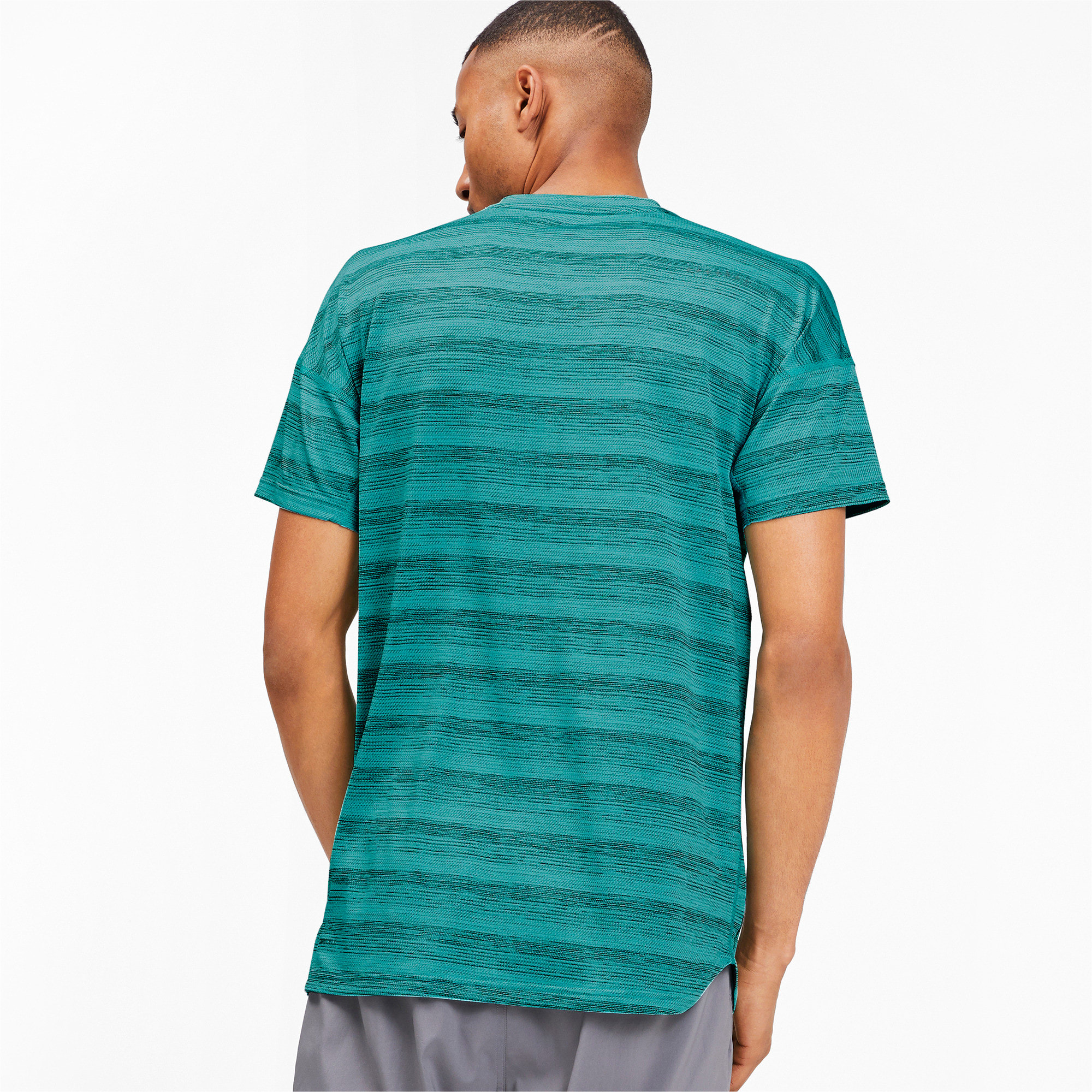 Thumbnail 2 of LAST LAP ヘザー SS ランニング Tシャツ 半袖, Blue Turquoise Heather, medium-JPN