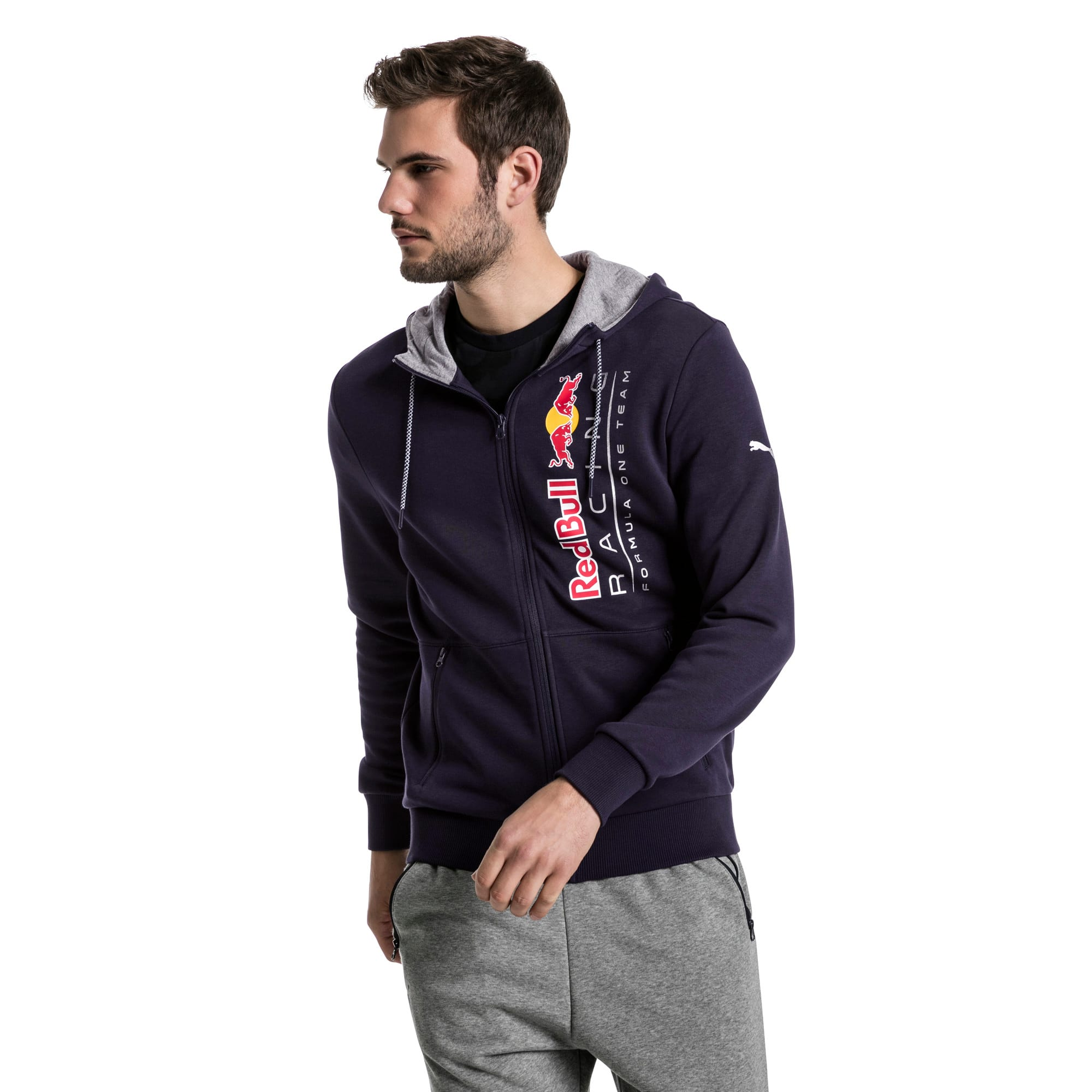 Thumbnail 2 of Red Bull Racing Lifestyle Men's Hooded Sweat Jacket, NIGHT SKY, medium