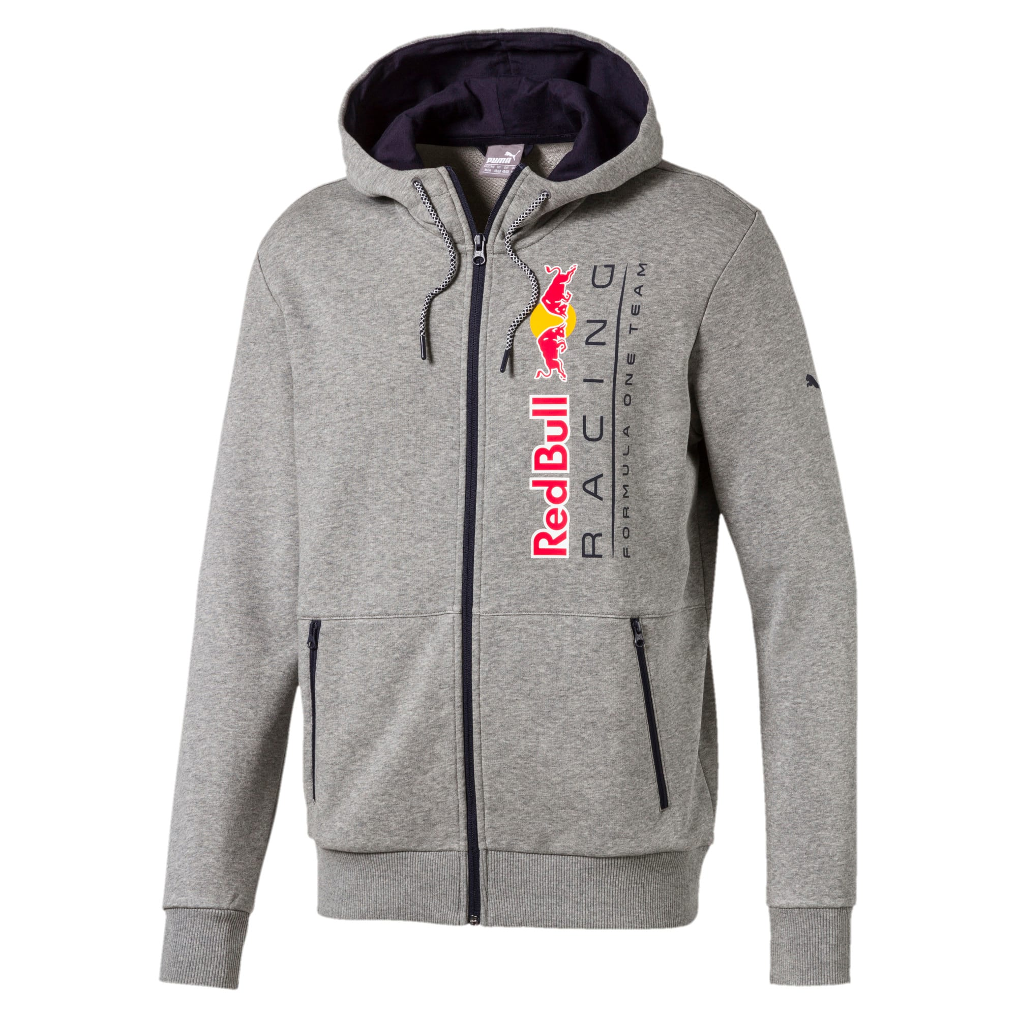Thumbnail 2 of Red Bull Racing Lifestyle Men's Hooded Sweat Jacket, Medium Gray Heather - 1, medium