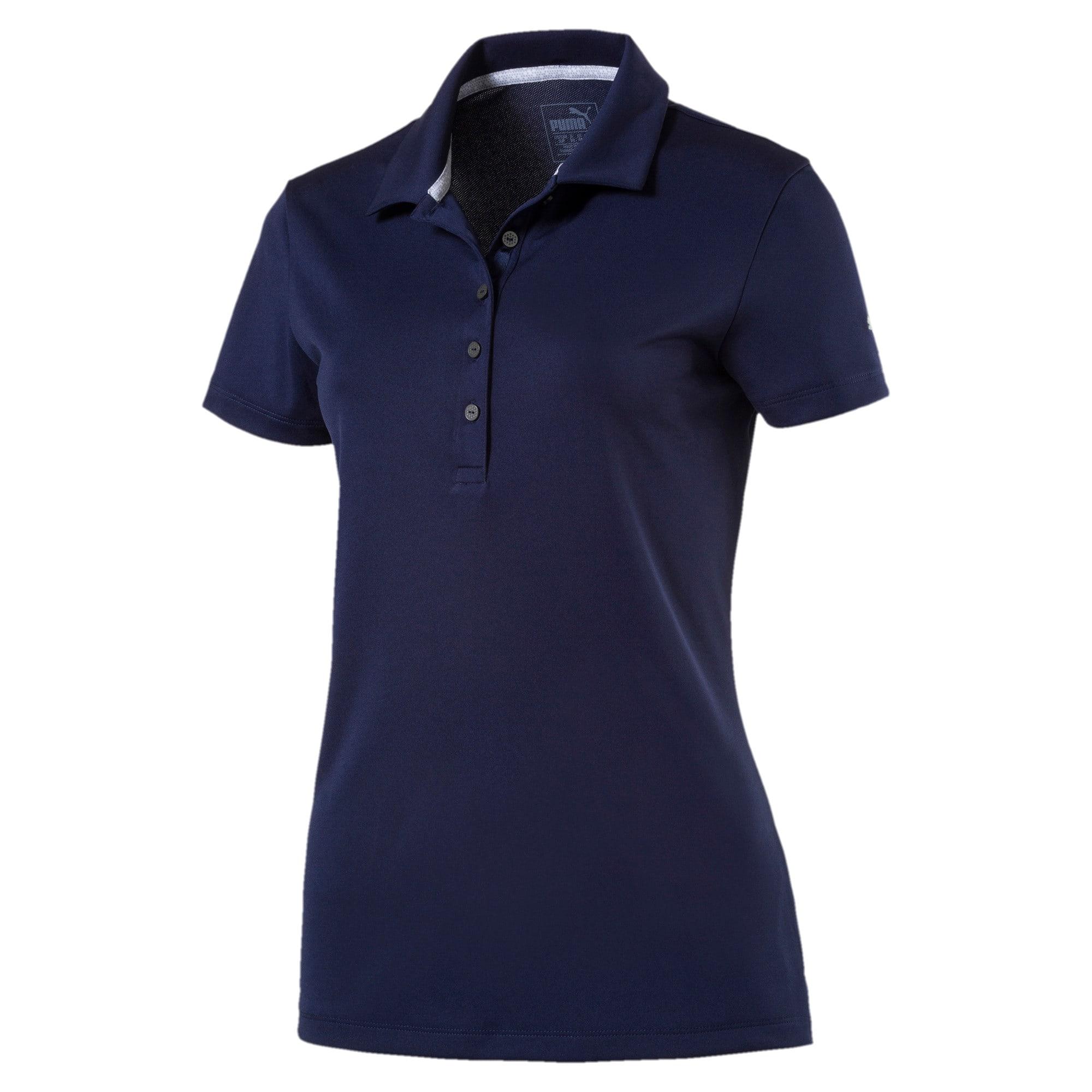 Miniatura 1 de Camiseta tipo polo Pounce para mujer, Peacoat, mediano