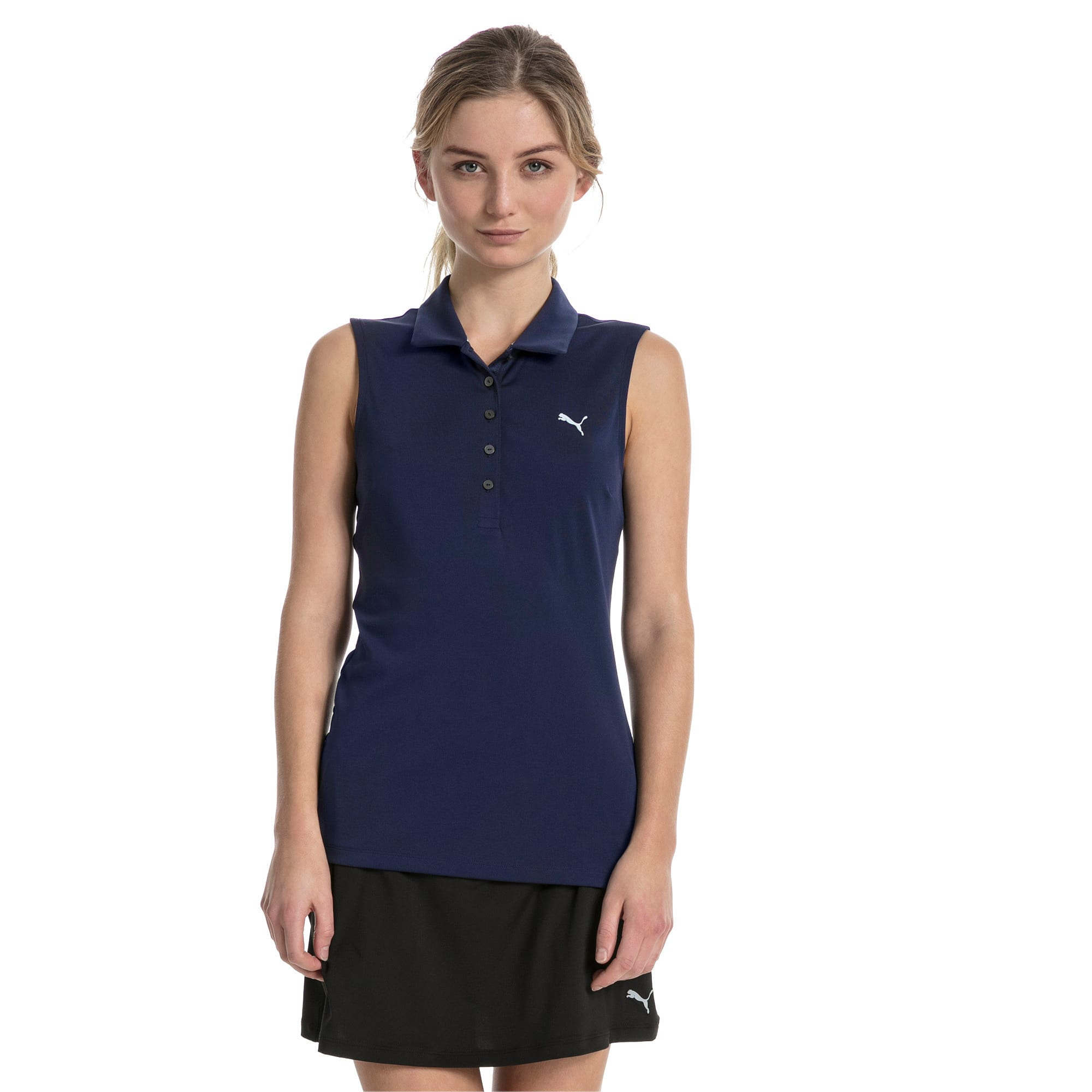 Thumbnail 1 of Golf Damen Pounce Ärmelloses Polo, Peacoat, medium