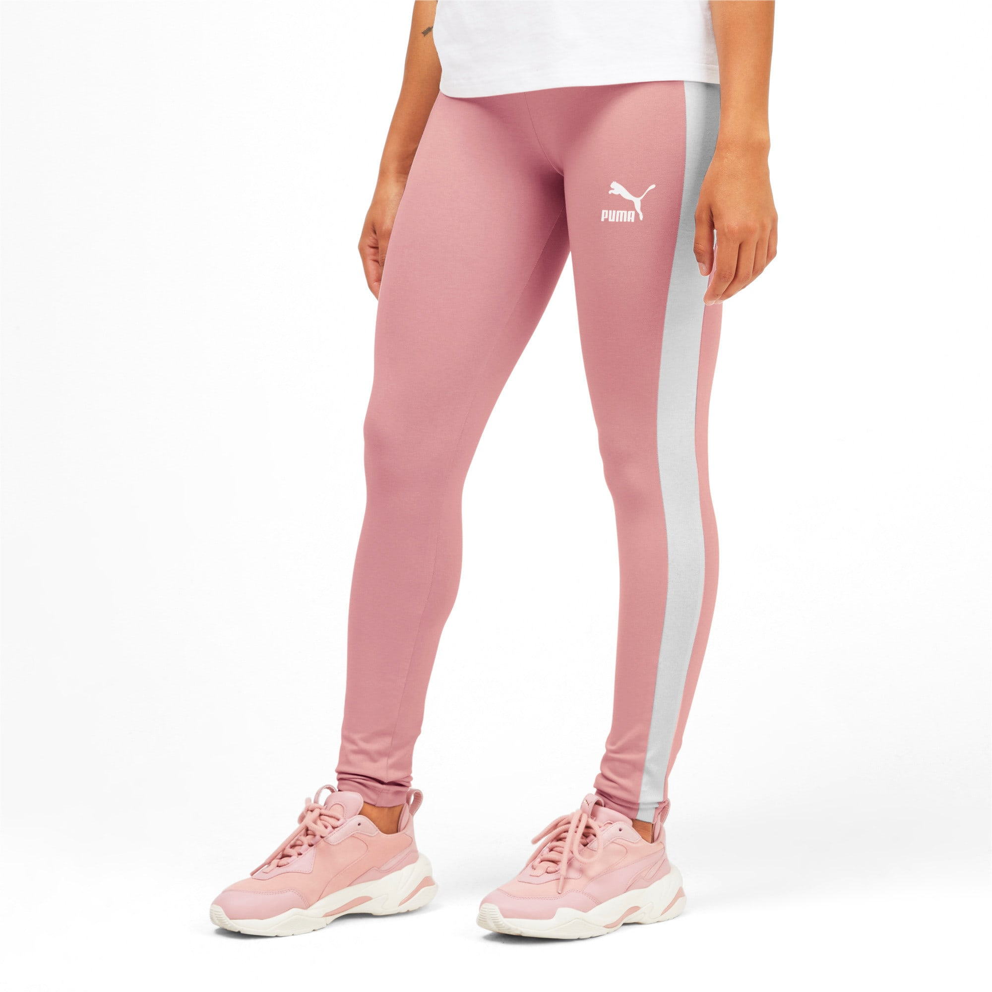 Thumbnail 1 of Classics Logo T7 Legging, Bridal Rose, medium