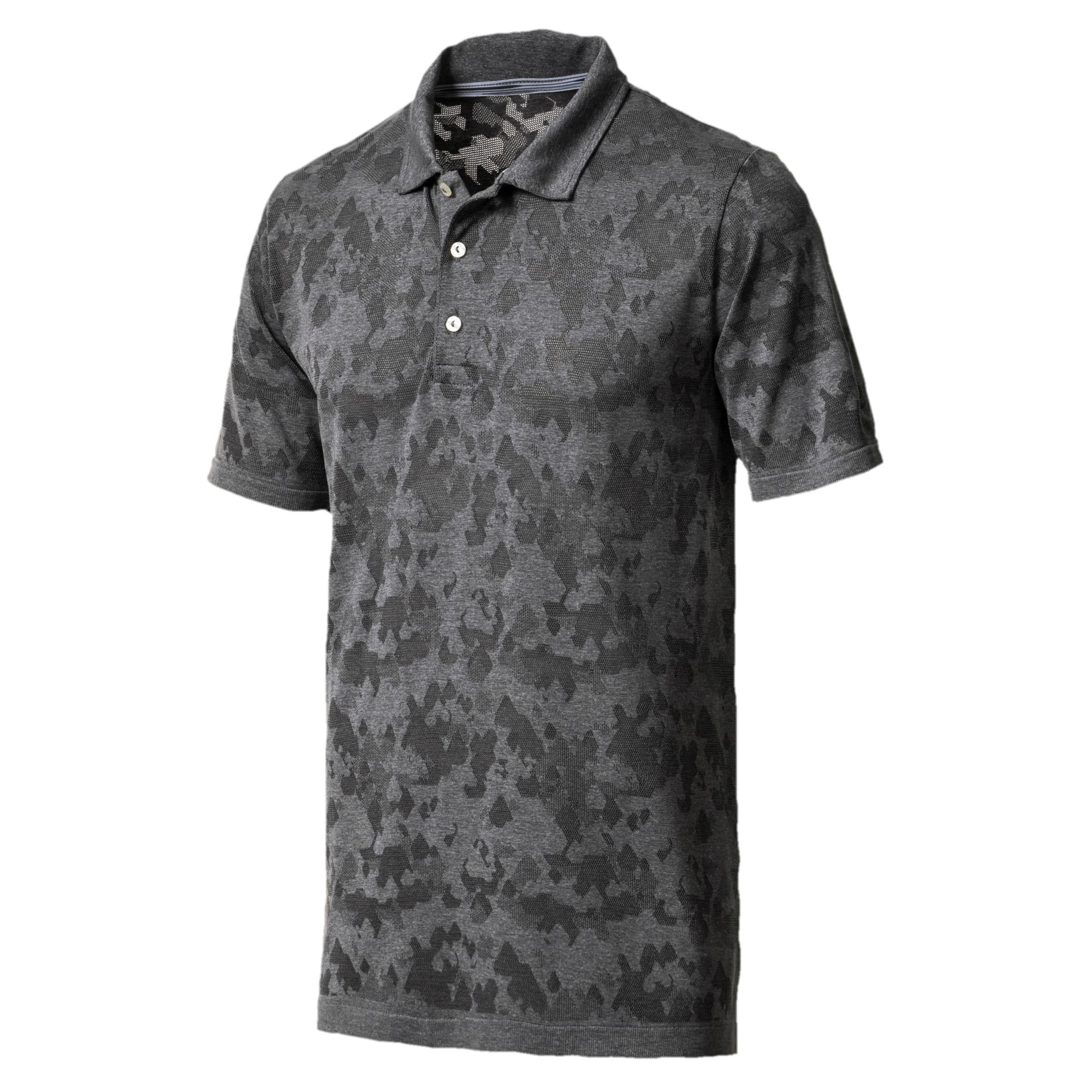 Thumbnail 1 of Men's evoKNIT Camo Polo, QUIET SHADE, medium