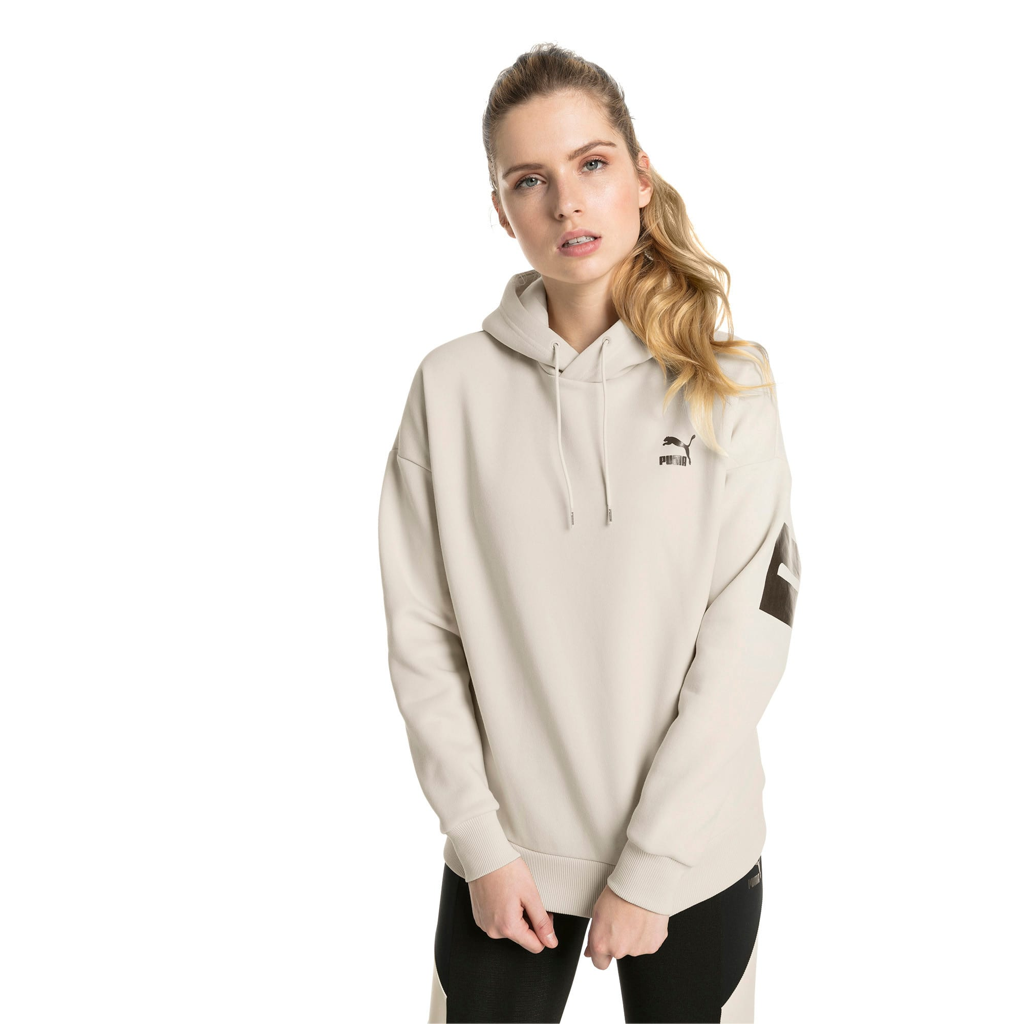 Thumbnail 2 of Retro Women's Hoodie, Birch, medium