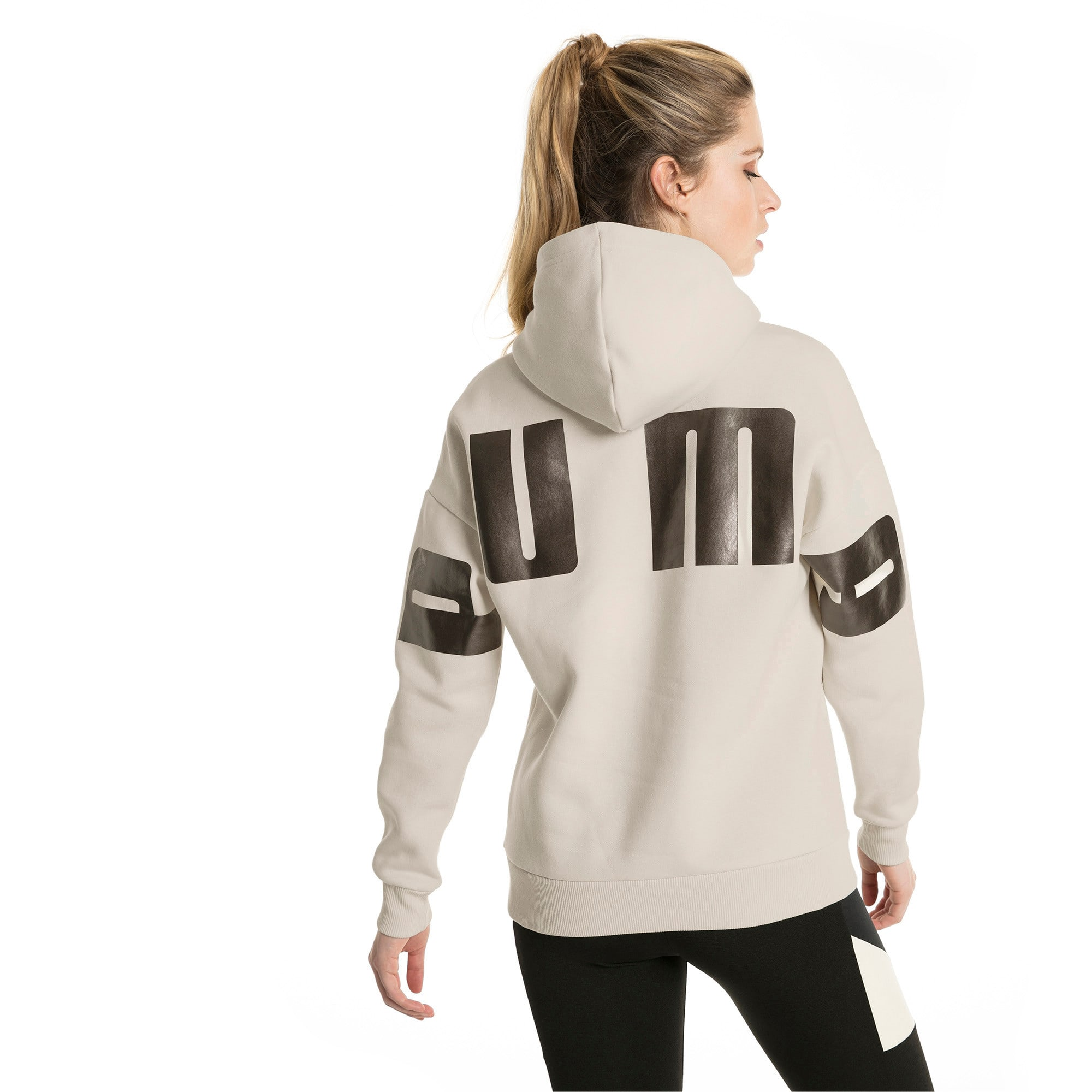 Thumbnail 3 of Retro Women's Hoodie, Birch, medium