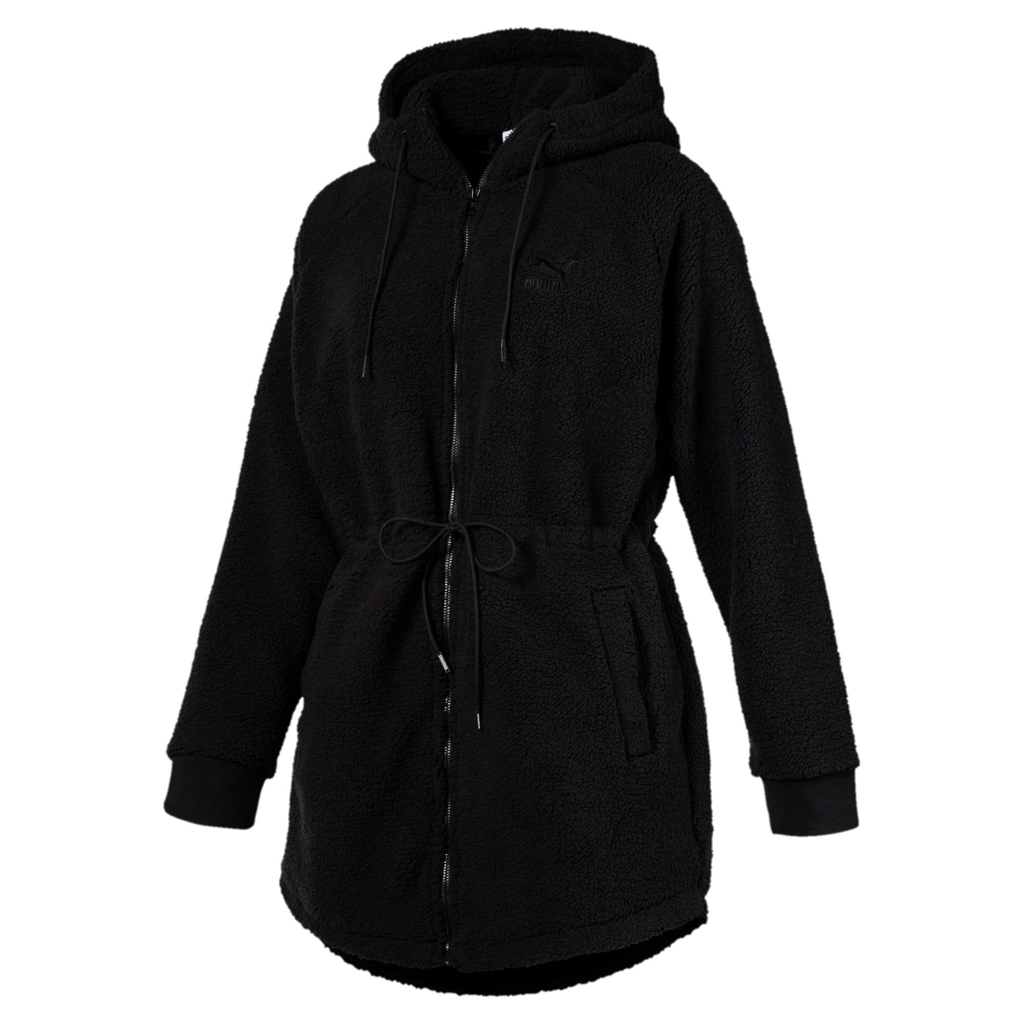 Thumbnail 1 of Downtown Winterised Full Zip Women's Sherpa Hoodie, Puma Black, medium