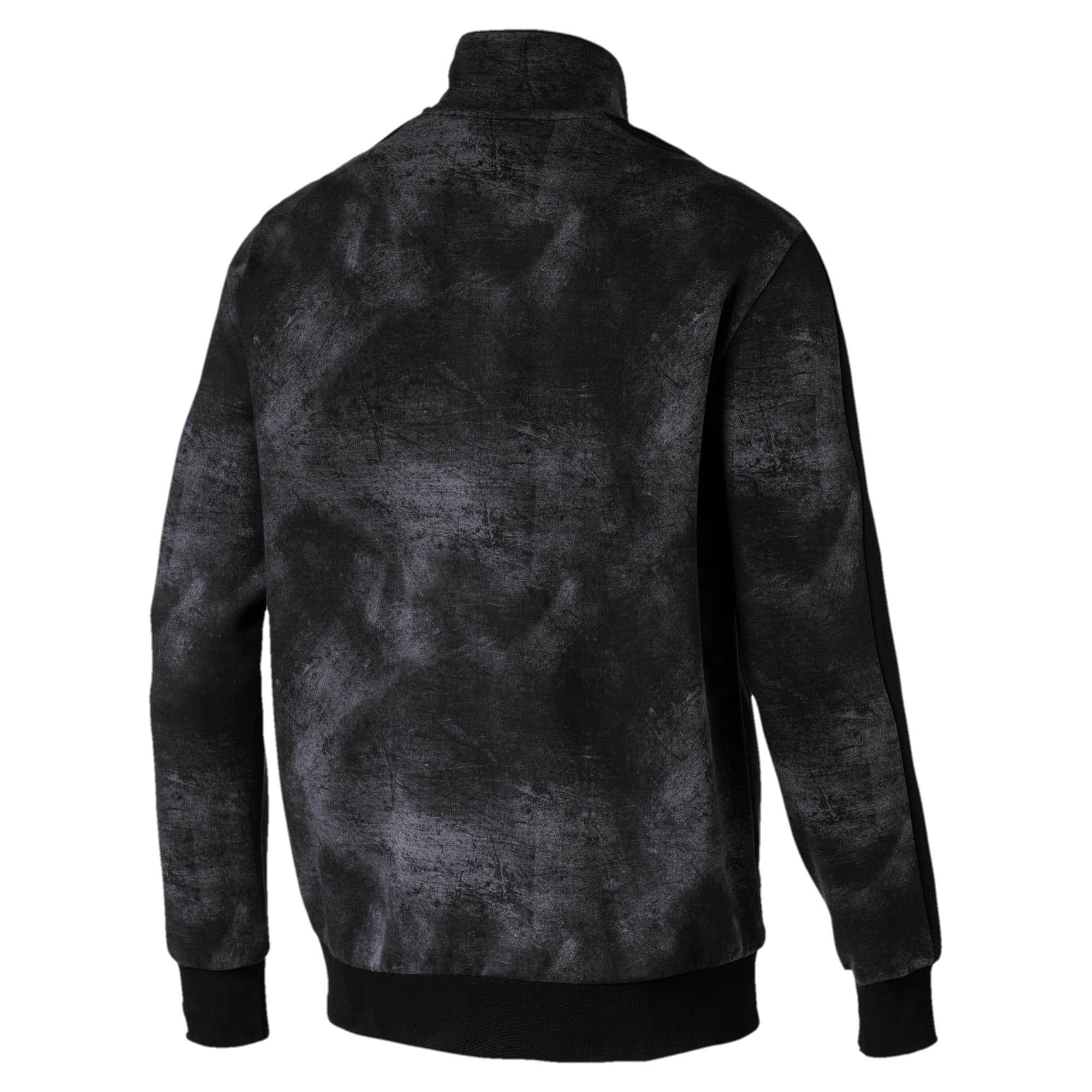 Thumbnail 3 of Classics All-Over Print T7 Men's Jacket, Puma Black-2, medium