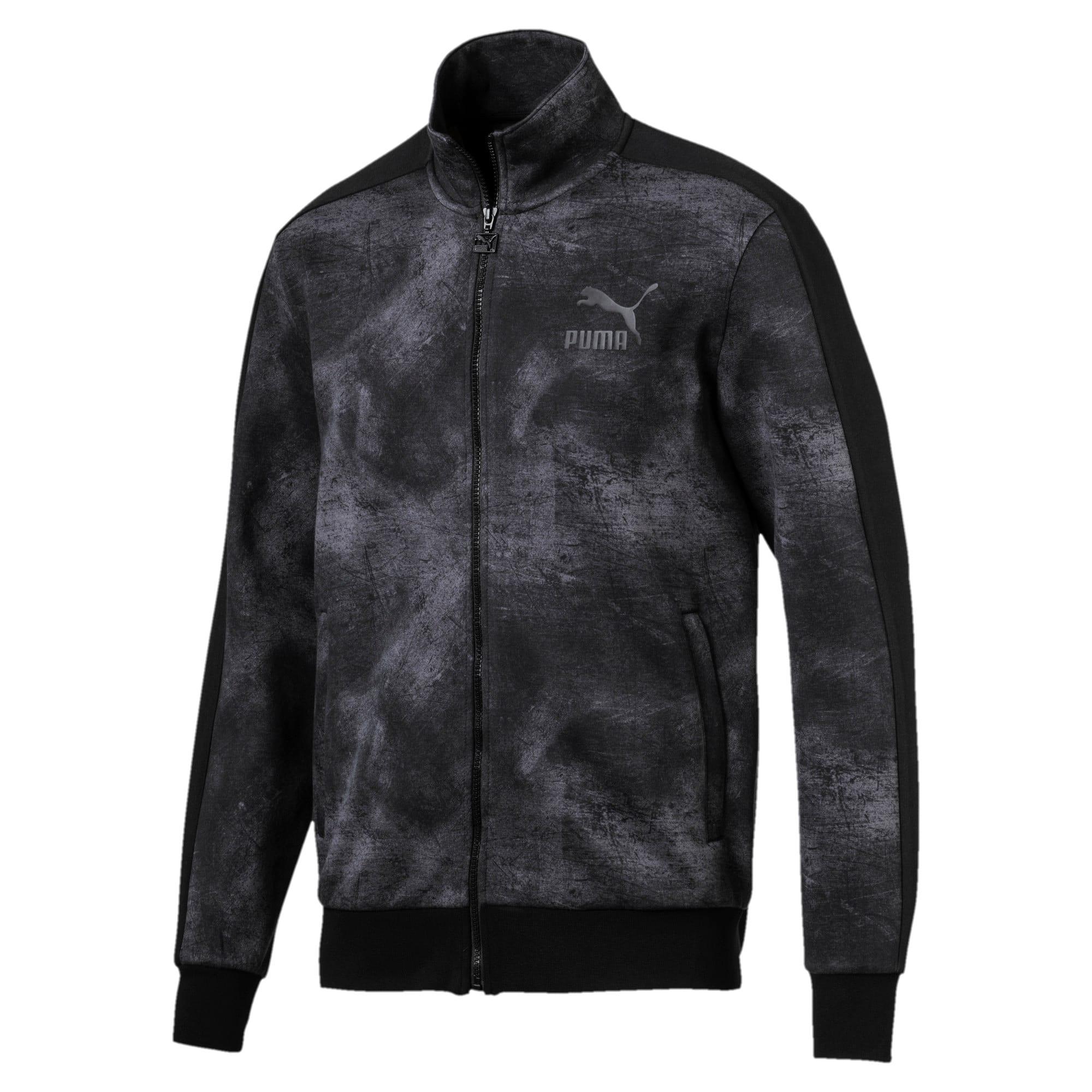 Thumbnail 1 of Classics All-Over Print T7 Men's Jacket, Puma Black-2, medium