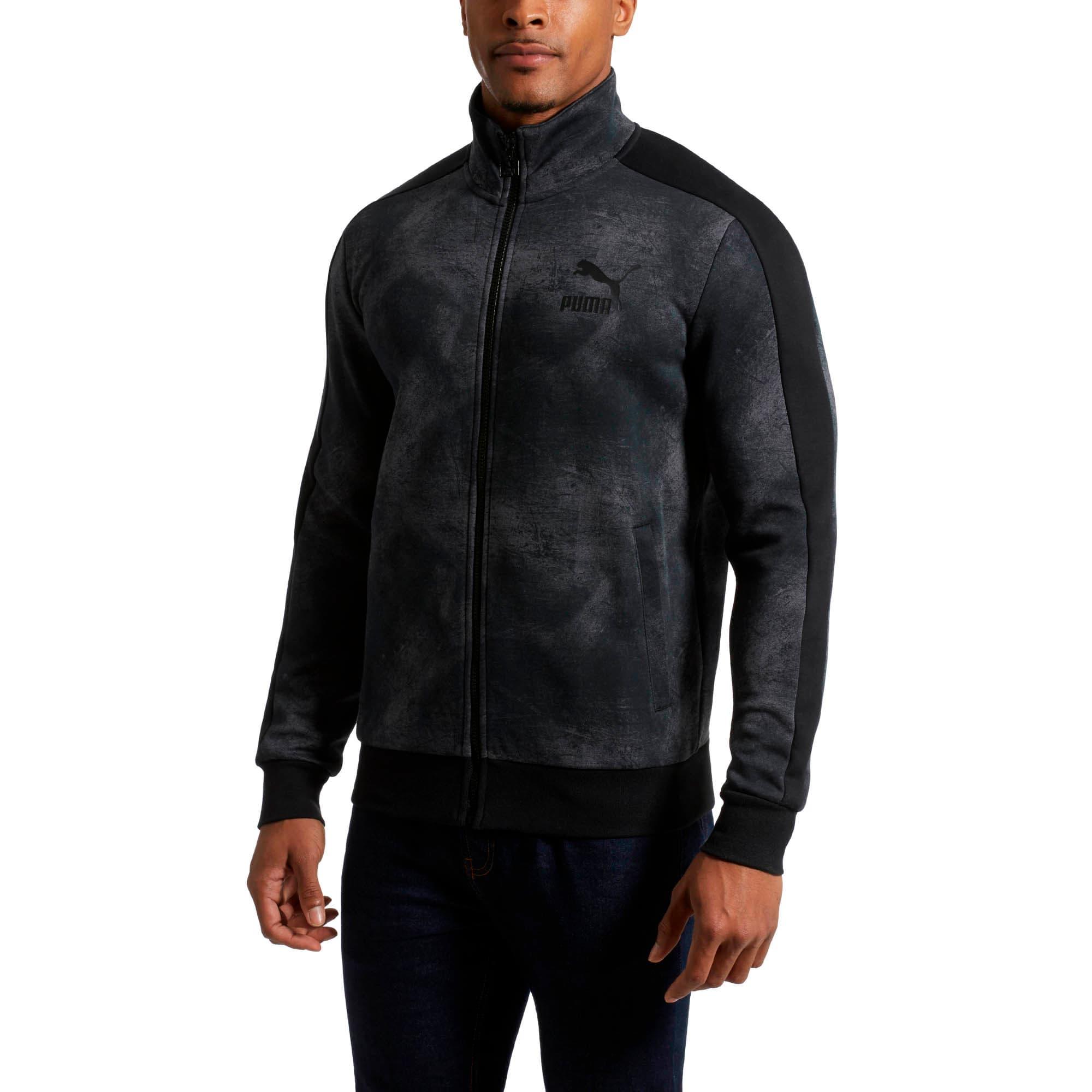 Thumbnail 2 of Classics All-Over Print T7 Men's Jacket, Puma Black-2, medium
