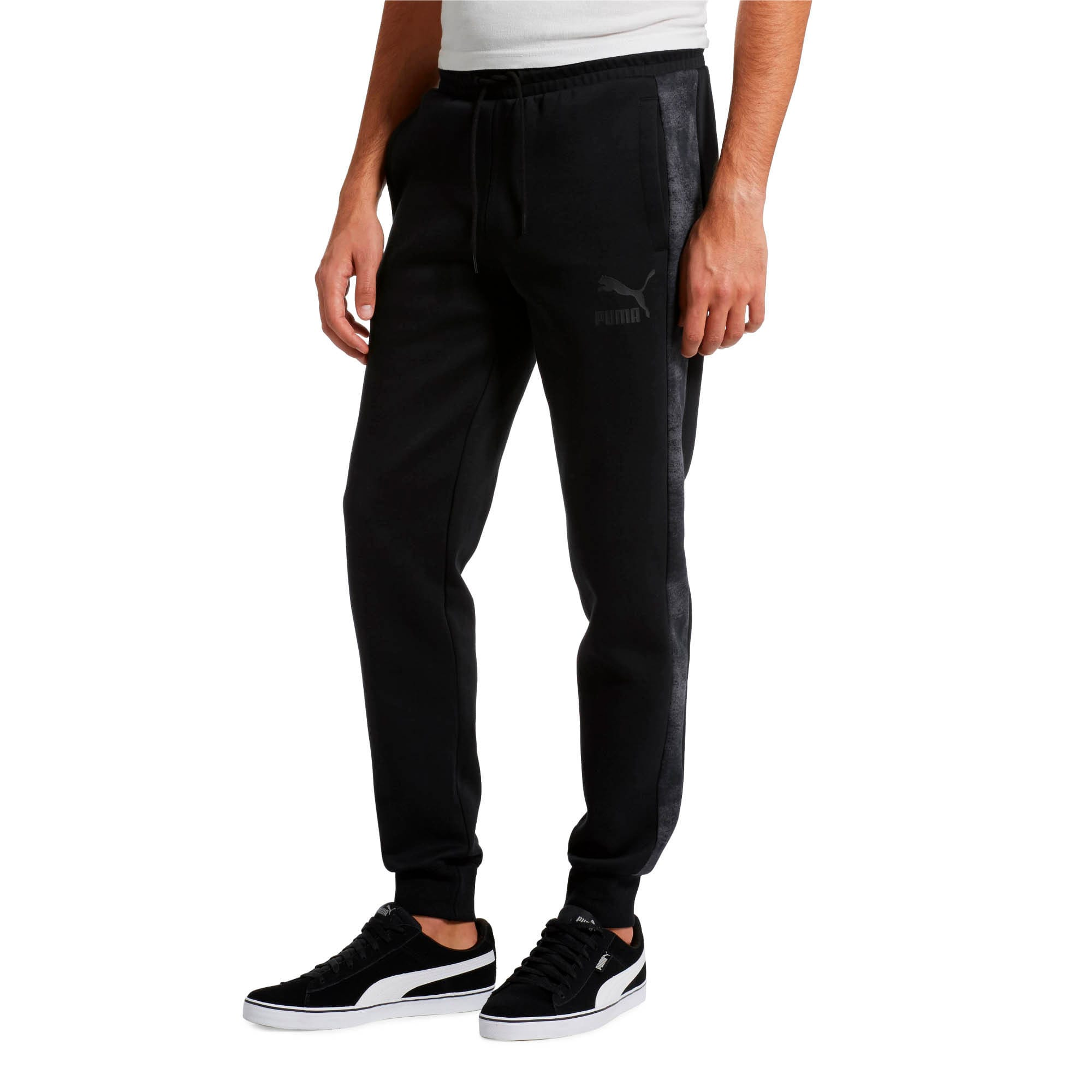 Thumbnail 2 of Classics All-Over Print T7 Men's Pants, Puma Black-3, medium
