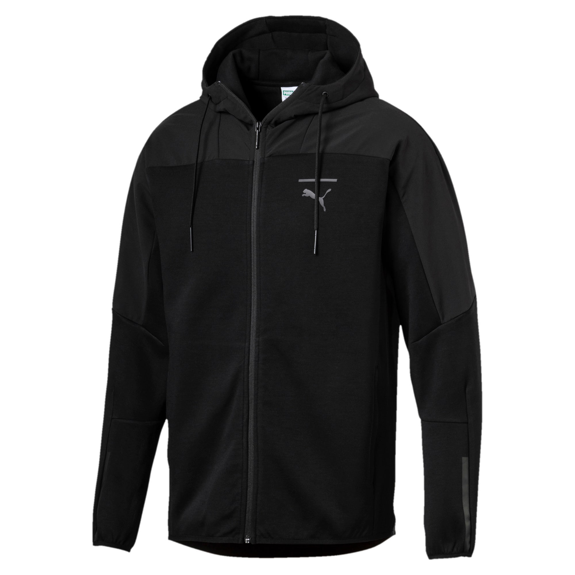 Pace LAB Men's Full Zip Hoodie, Puma Black, large
