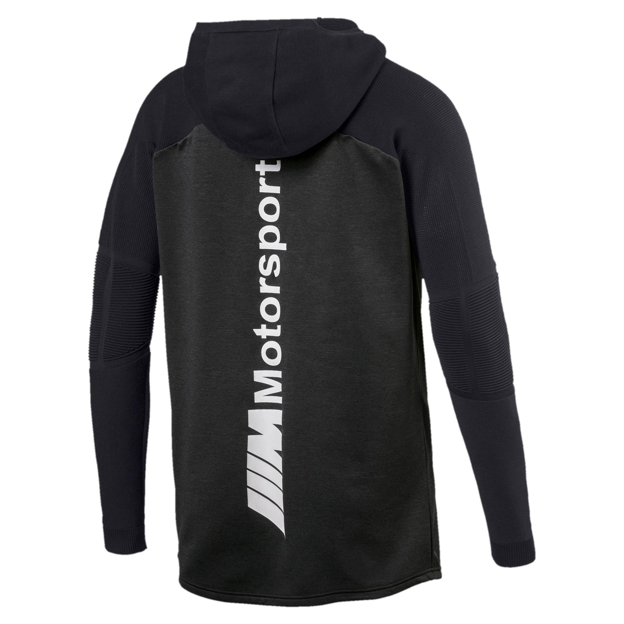 Thumbnail 2 of BMW M Motorsport evoKNIT Men's Half Zip Pullover, Puma Black Heather, medium