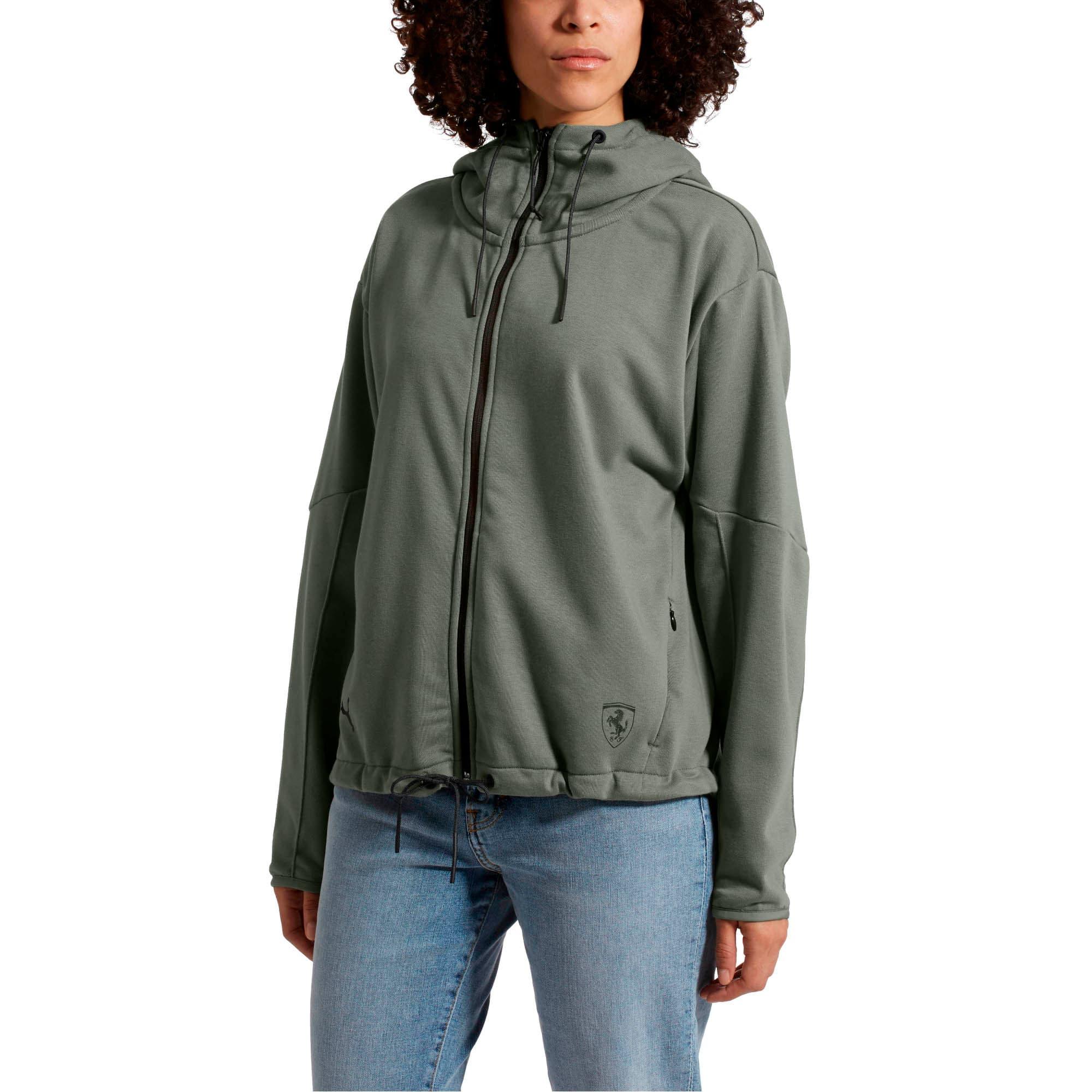 Thumbnail 2 of Scuderia Ferrari Lifestyle Women's Hooded Sweat Jacket, Laurel Wreath, medium
