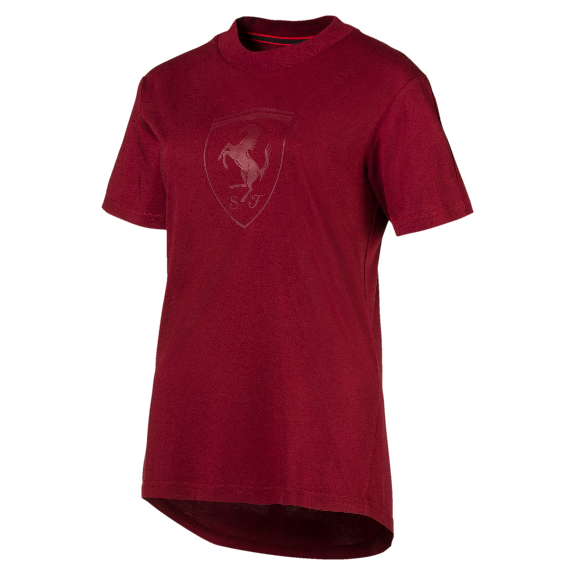 Thumbnail 1 of Scuderia Ferrari Lifestyle Women's Big Shield Tee, Pomegranate, medium