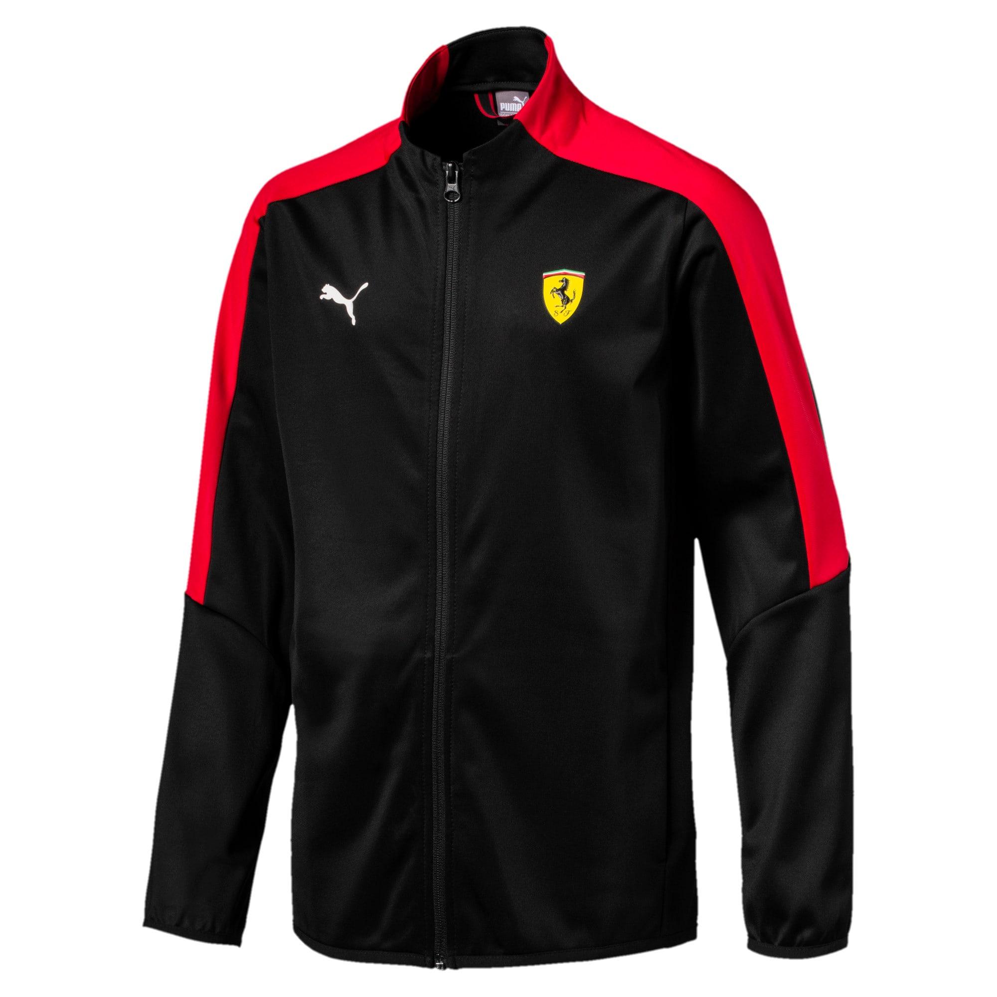 Thumbnail 1 of Scuderia Ferrari Boys' T7 Track Jacket JR, Puma Black, medium