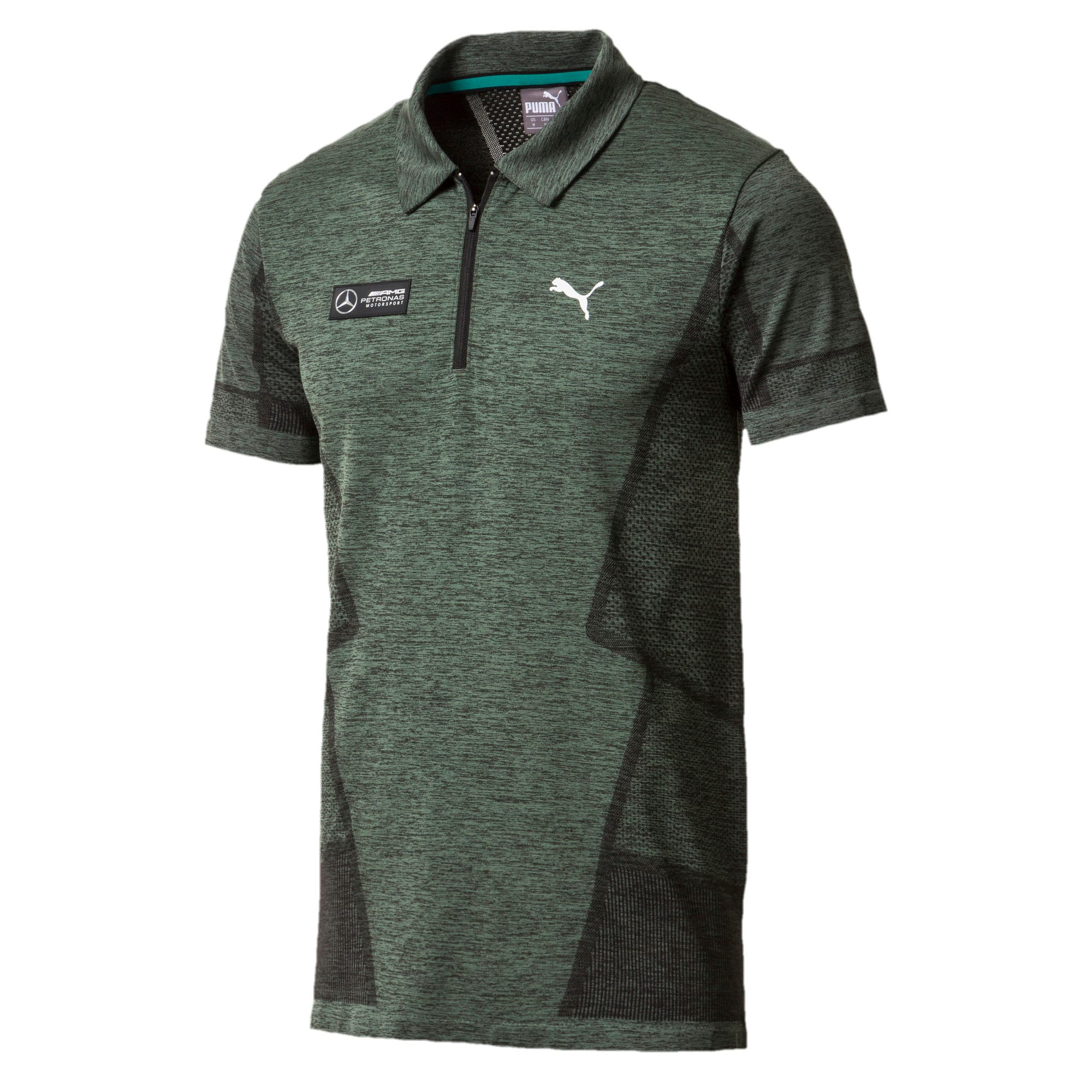 Thumbnail 1 of MERCEDES AMG PETRONAS Men's evoKNIT Polo, Laurel Wreath, medium-IND