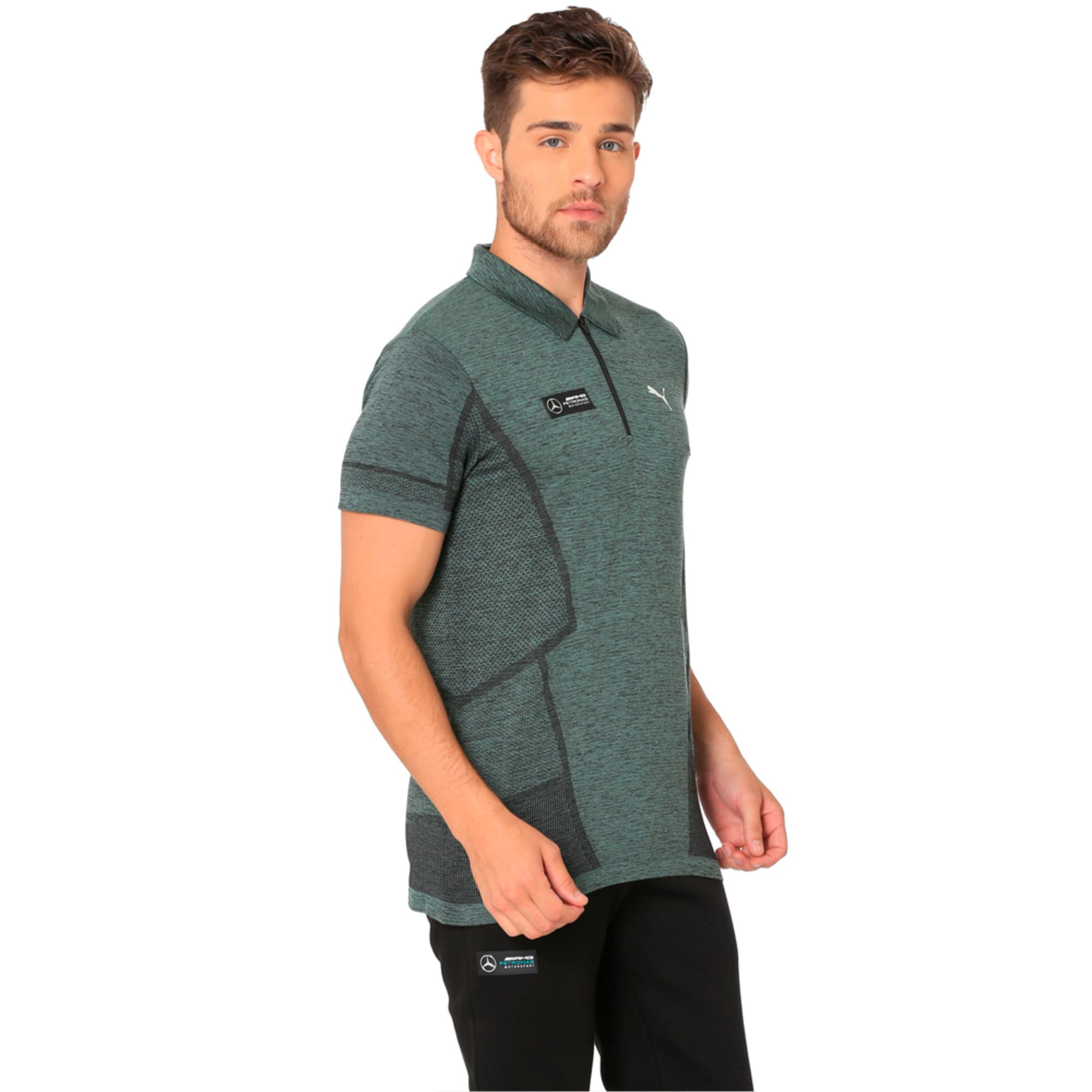 Thumbnail 3 of MERCEDES AMG PETRONAS Men's evoKNIT Polo, Laurel Wreath, medium-IND