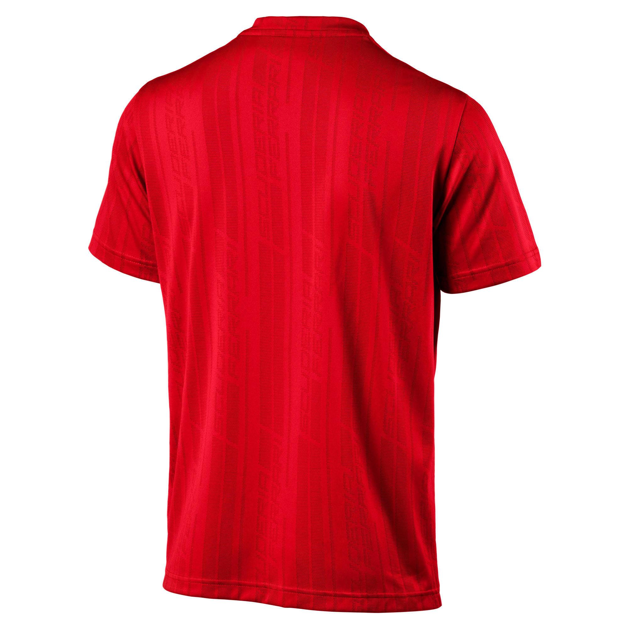 Thumbnail 4 of Ferrari Men's Jacquard T-Shirt, Rosso Corsa, medium