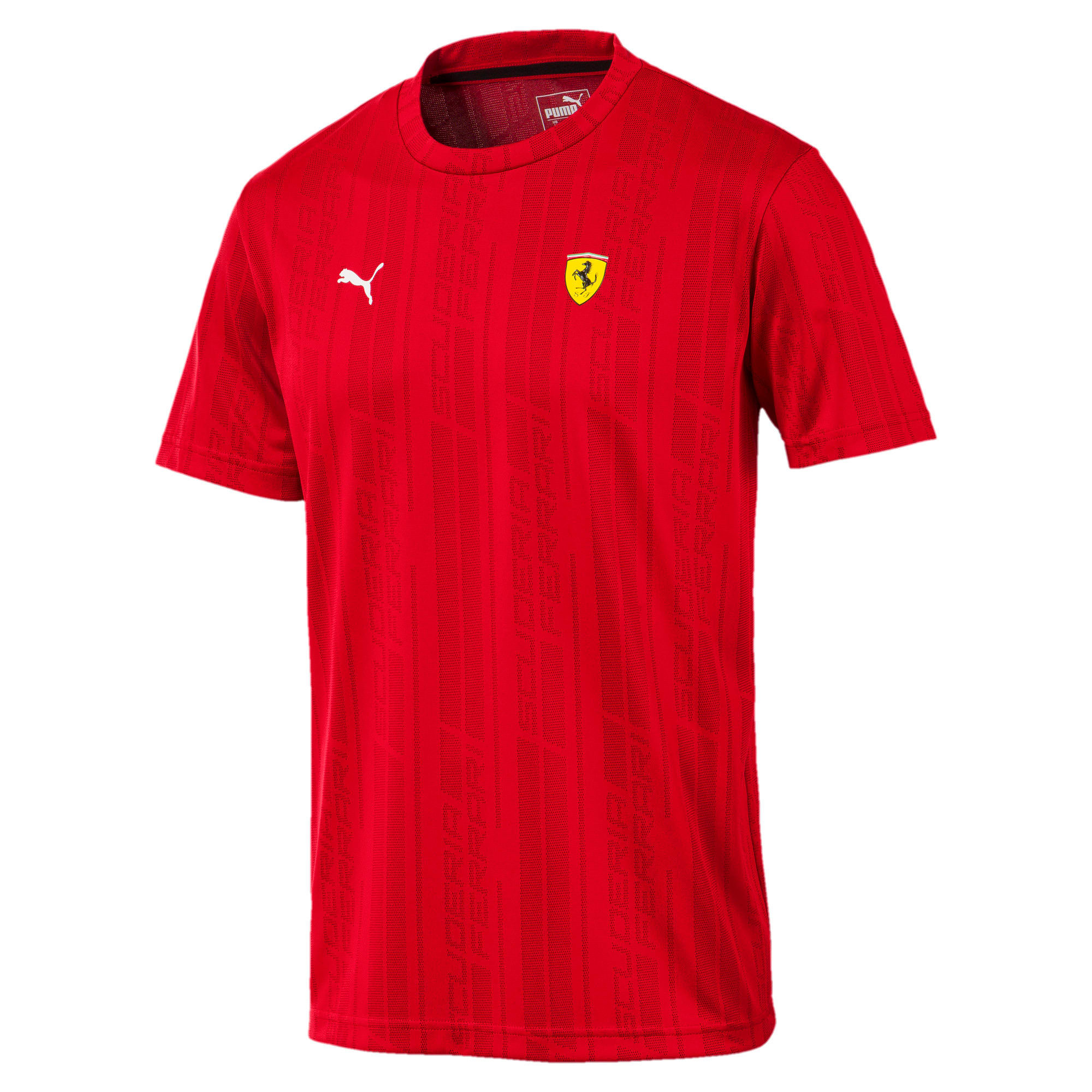 Thumbnail 1 of Ferrari Men's Jacquard T-Shirt, Rosso Corsa, medium