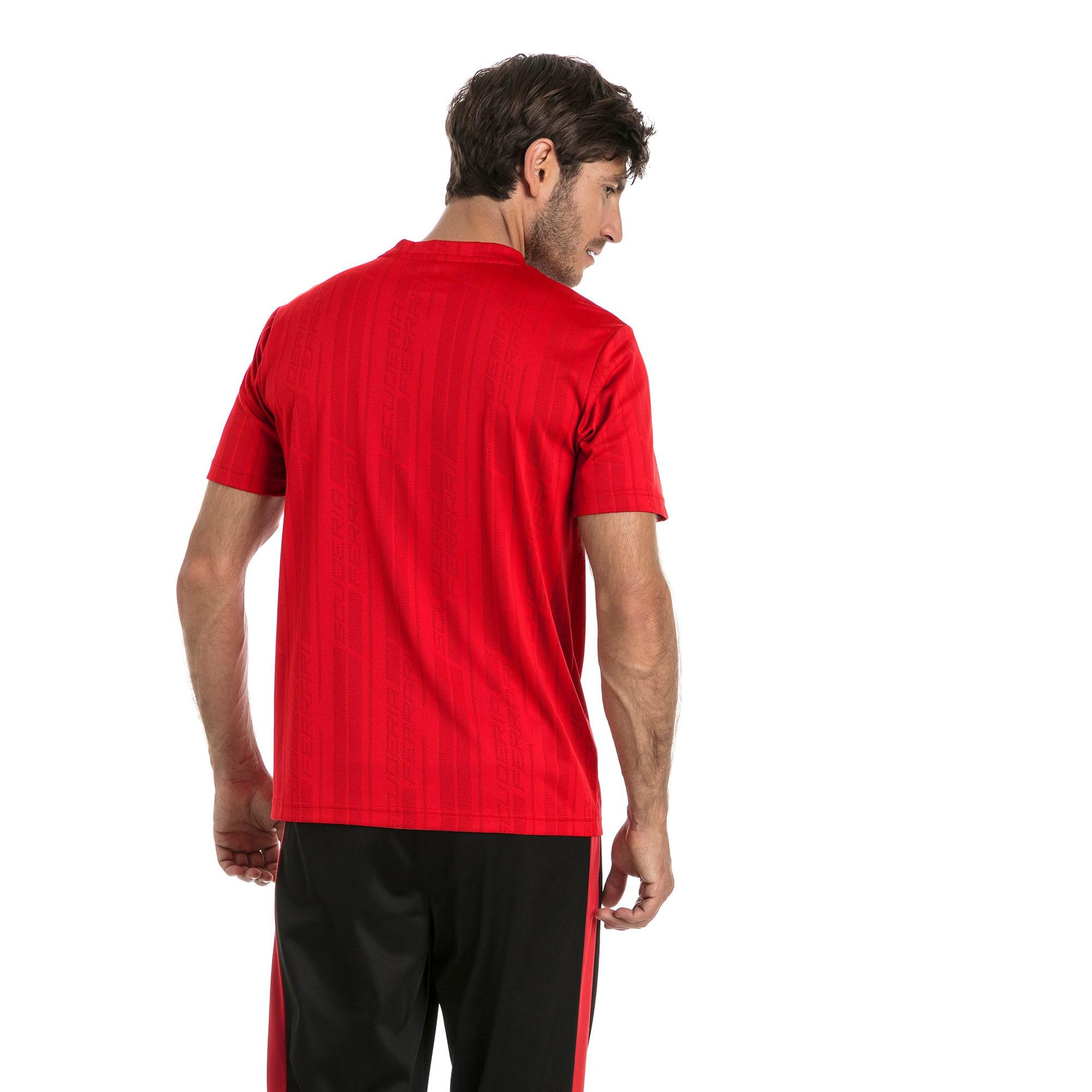 Thumbnail 3 of Ferrari Men's Jacquard T-Shirt, Rosso Corsa, medium