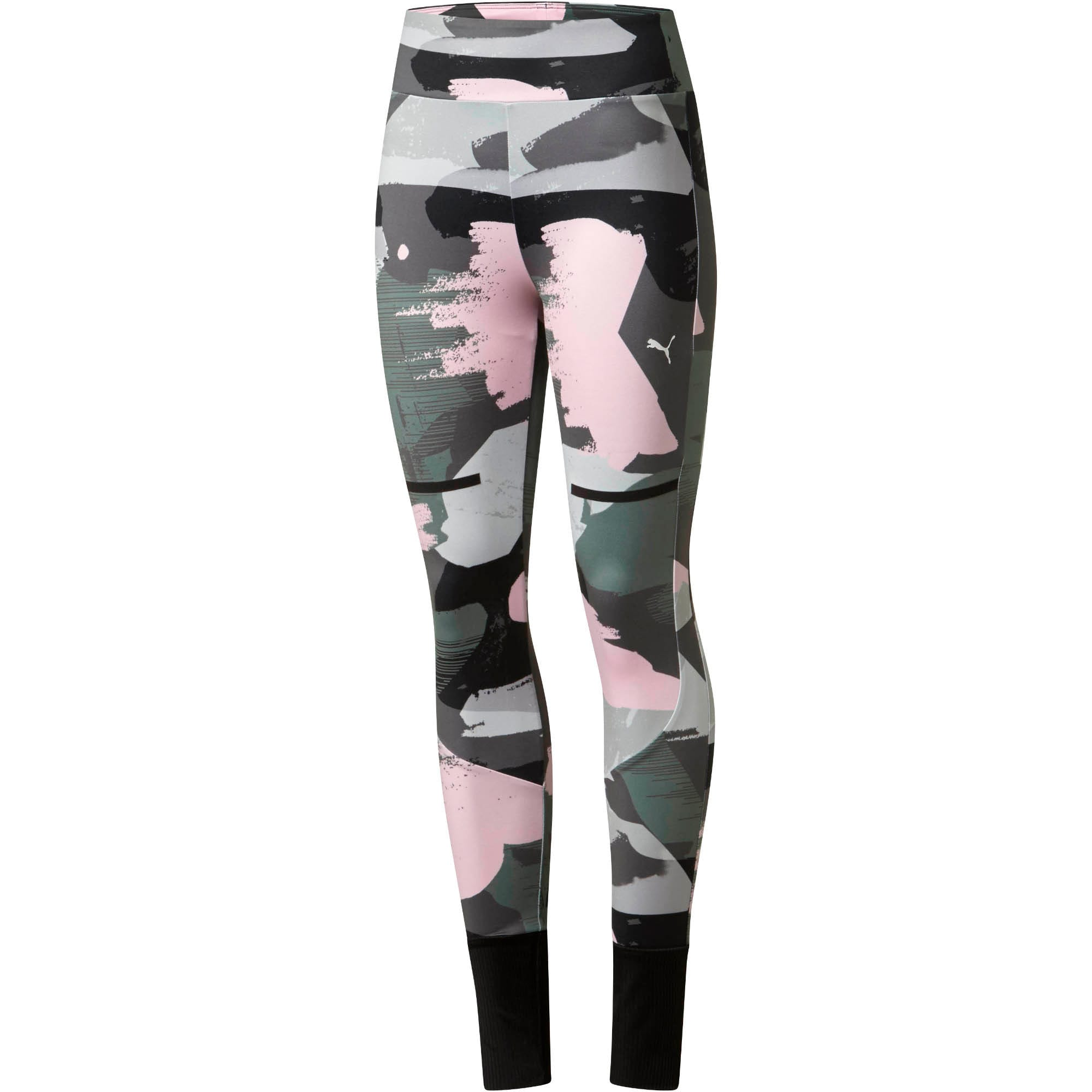Puma Chase All-Over Print Womens Leggings Gym Tight Iron Gate 576933 14 EE160