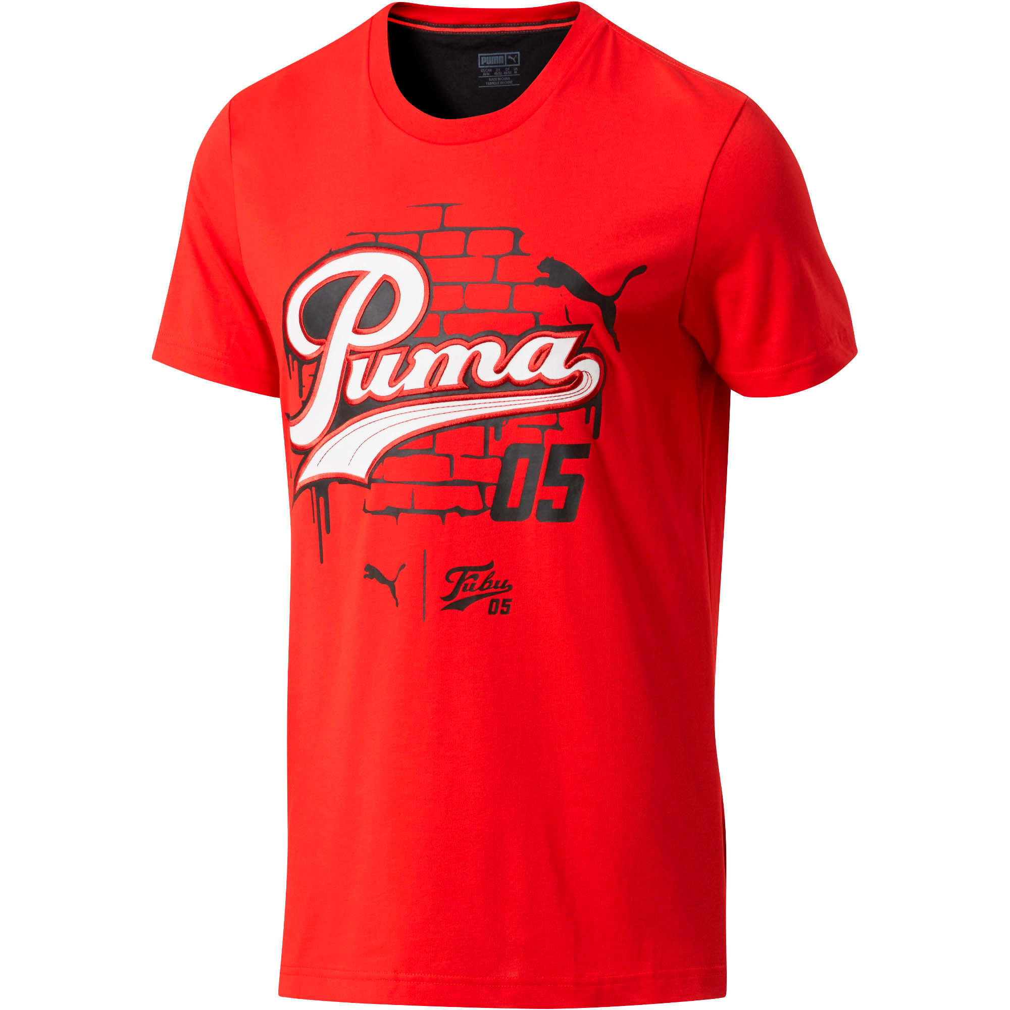 PUMA Graphic T-Shirt, High Risk Red, large