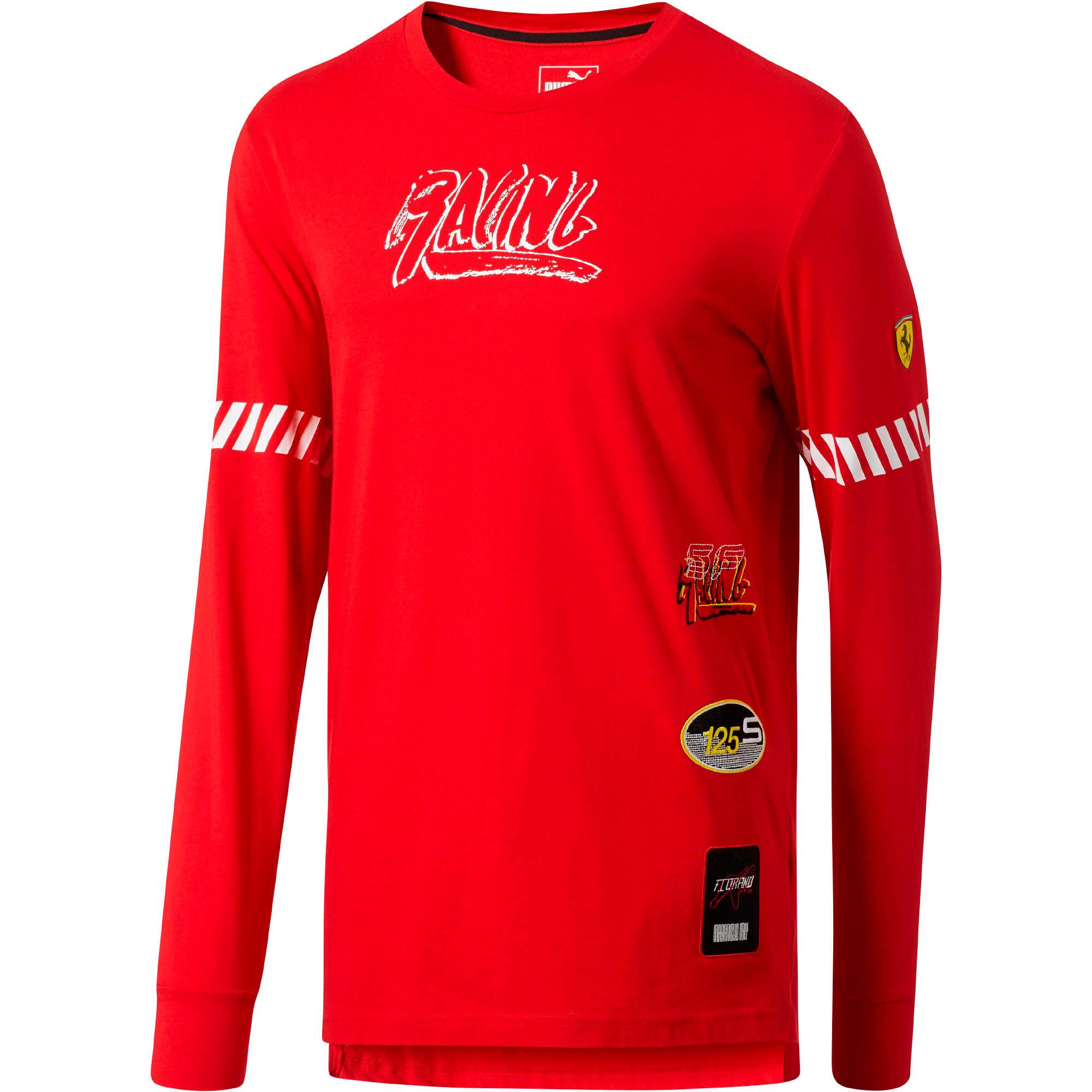 Thumbnail 1 of Scuderia Ferrari Street LS T-Shirt, Rosso Corsa, medium