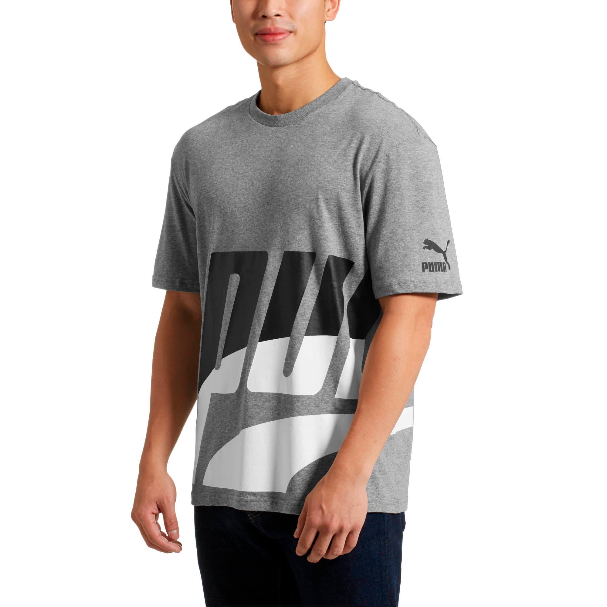 Thumbnail 2 of Men's Loud T-Shirt, Medium Gray Heather, medium