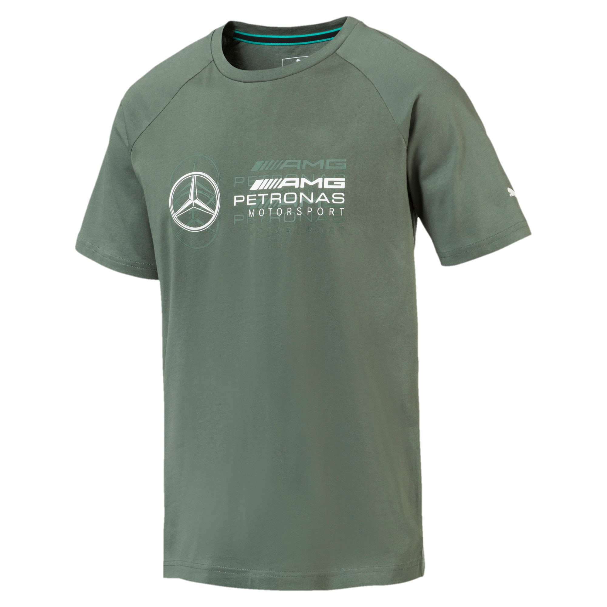 Thumbnail 1 of MERCEDES AMG PETRONAS Men's Logo T-Shirt, Laurel Wreath, medium